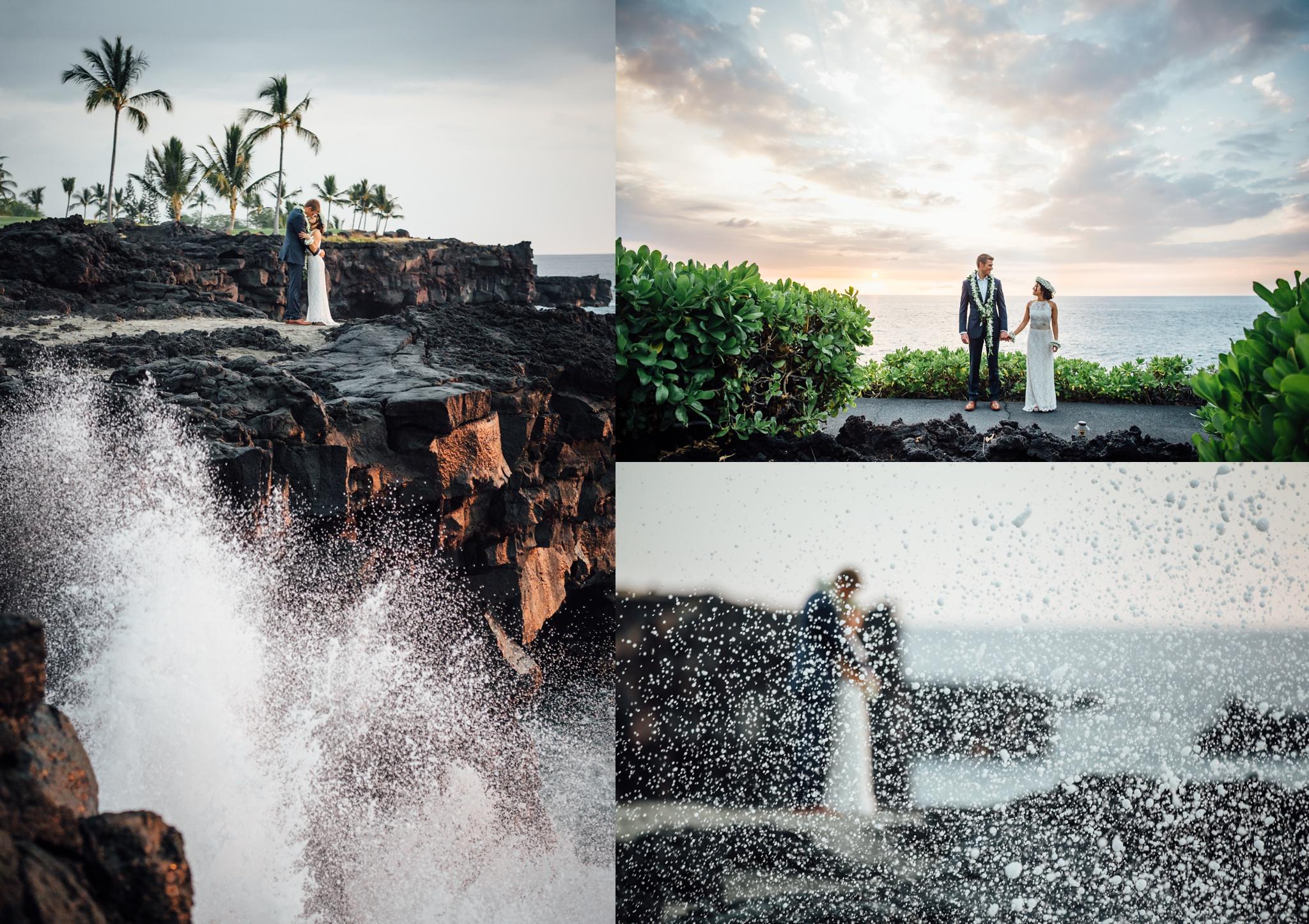 hawaii lava rock wedding