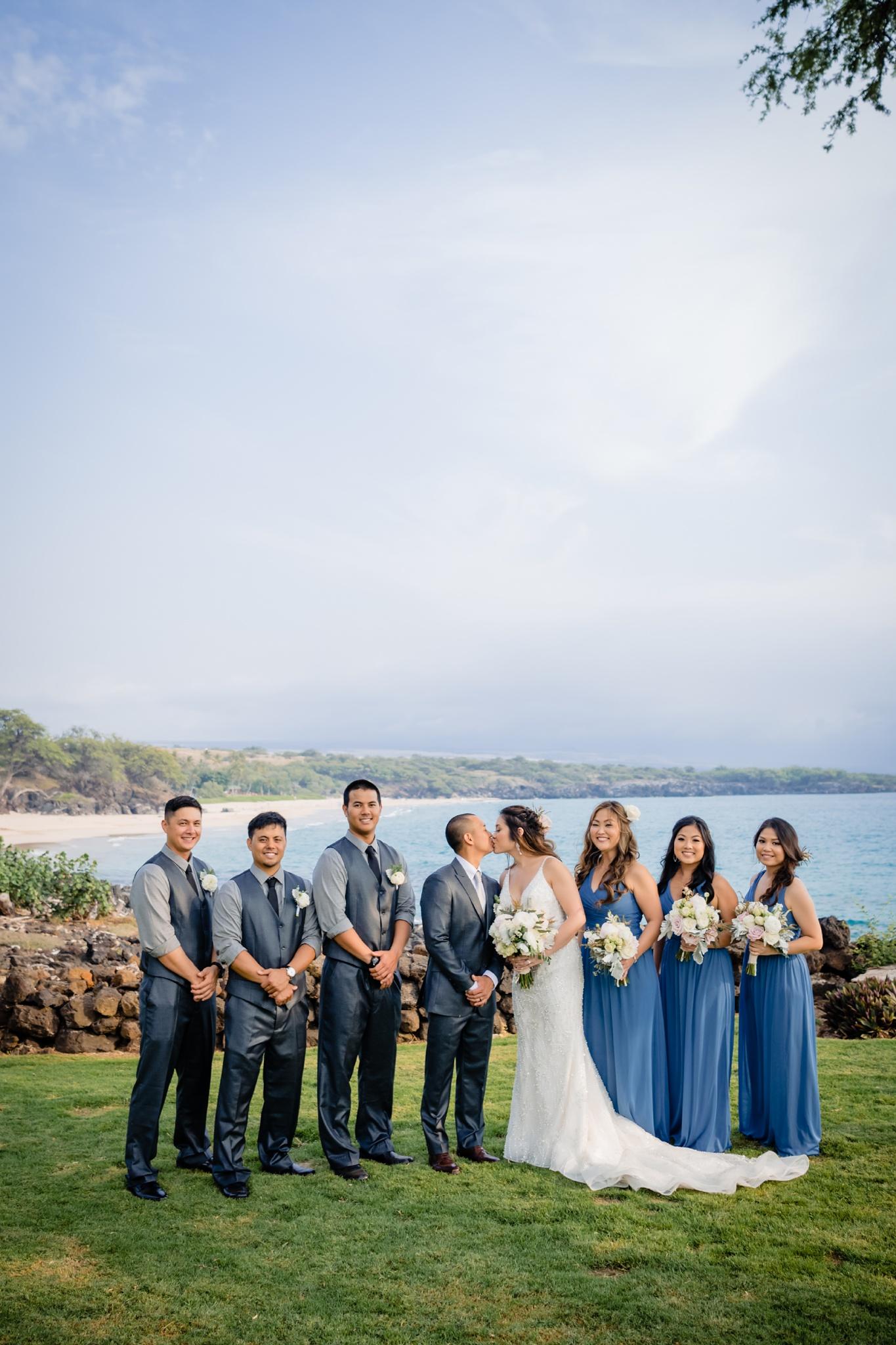 hawaii wedding party at westin hapuna wedding
