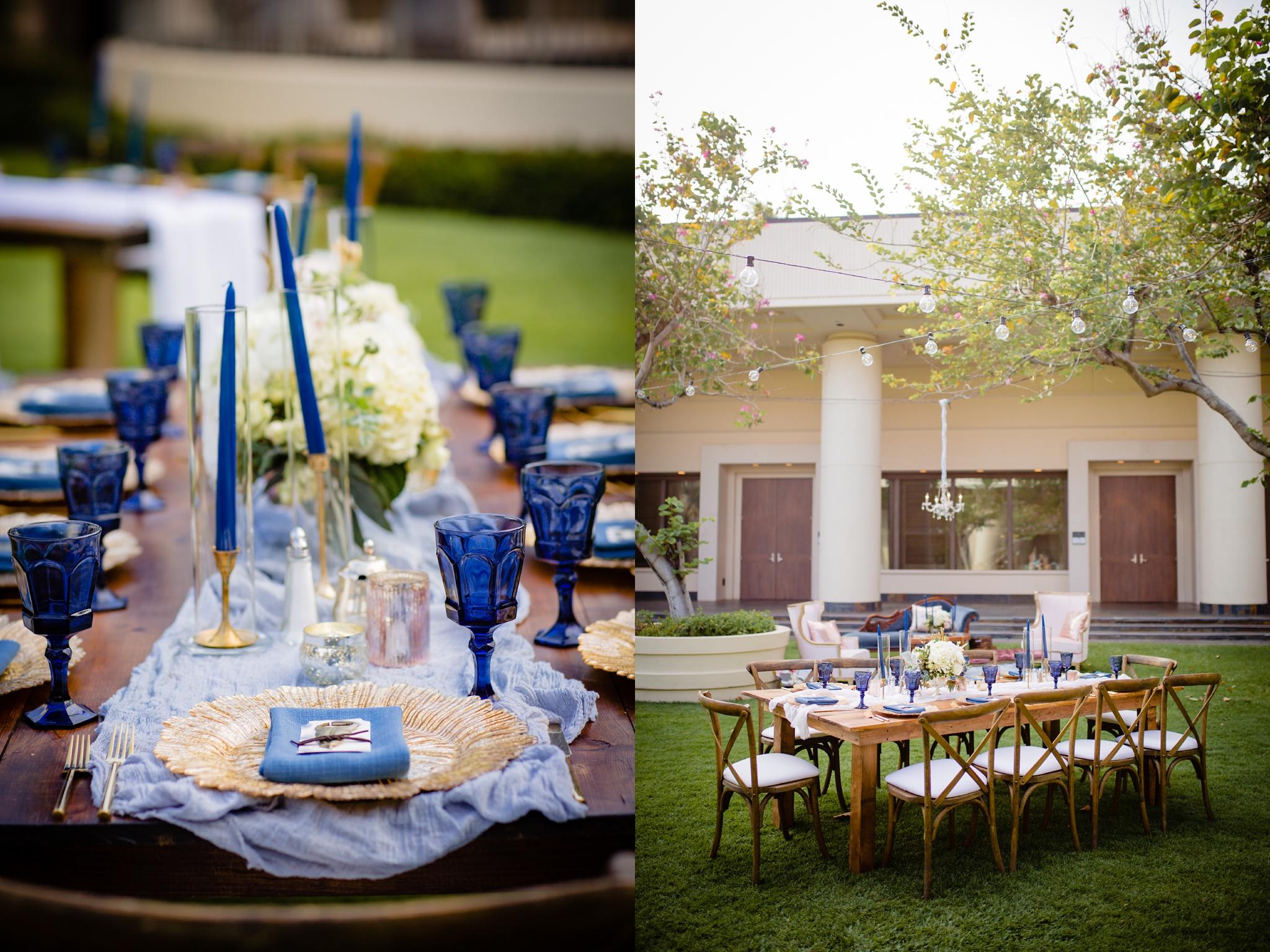wedding details reception table