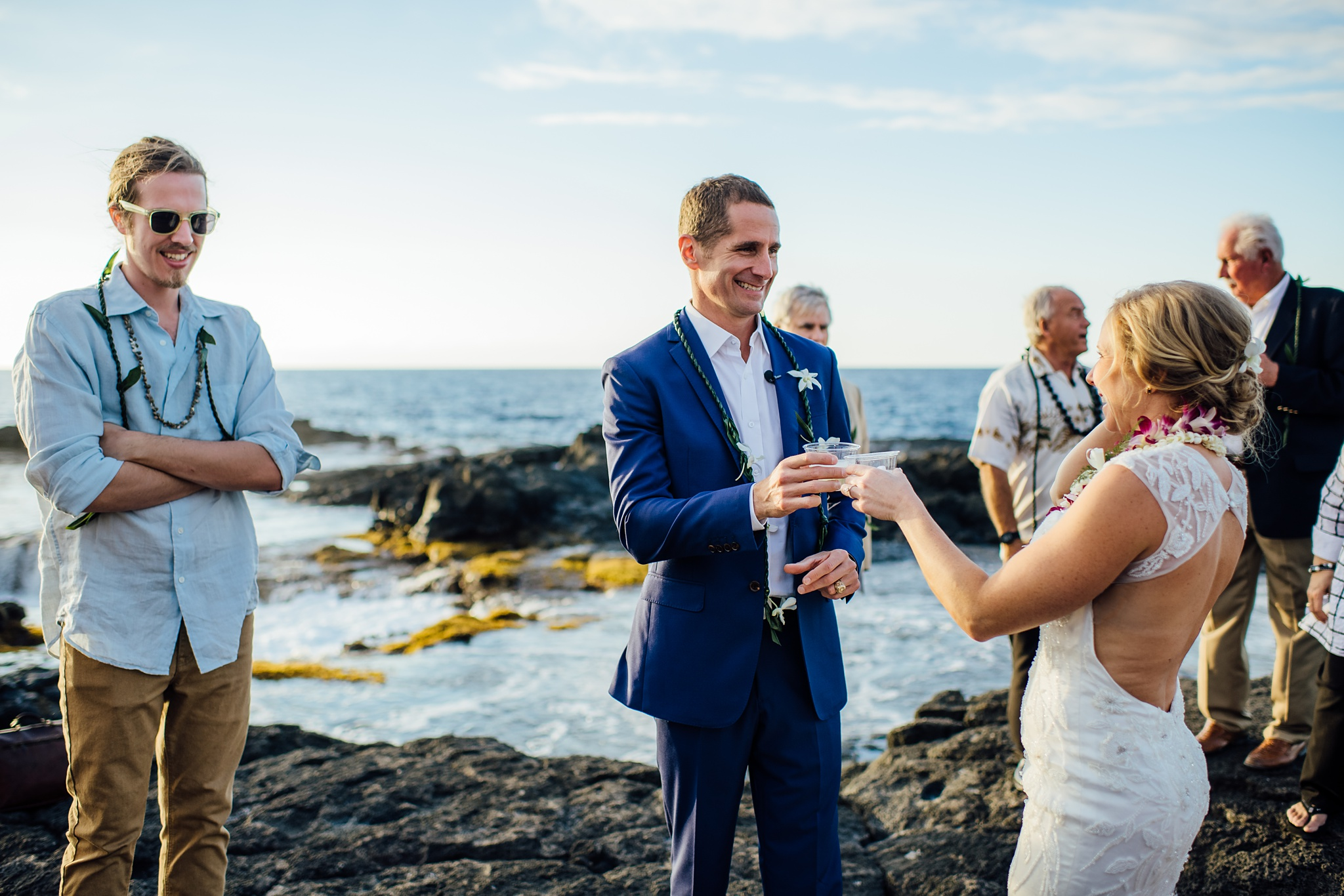 lava rock wedding on the big island