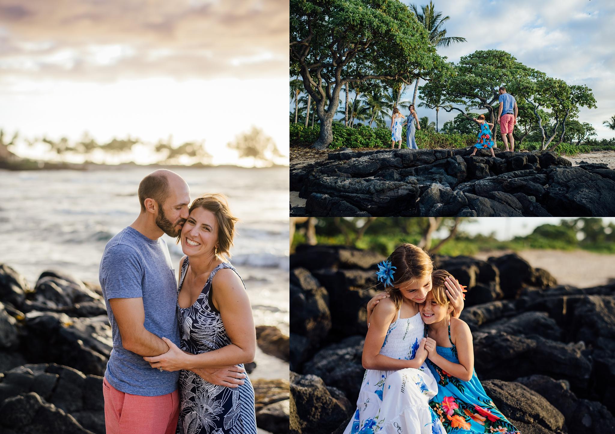 loving family in kona beach photograohy
