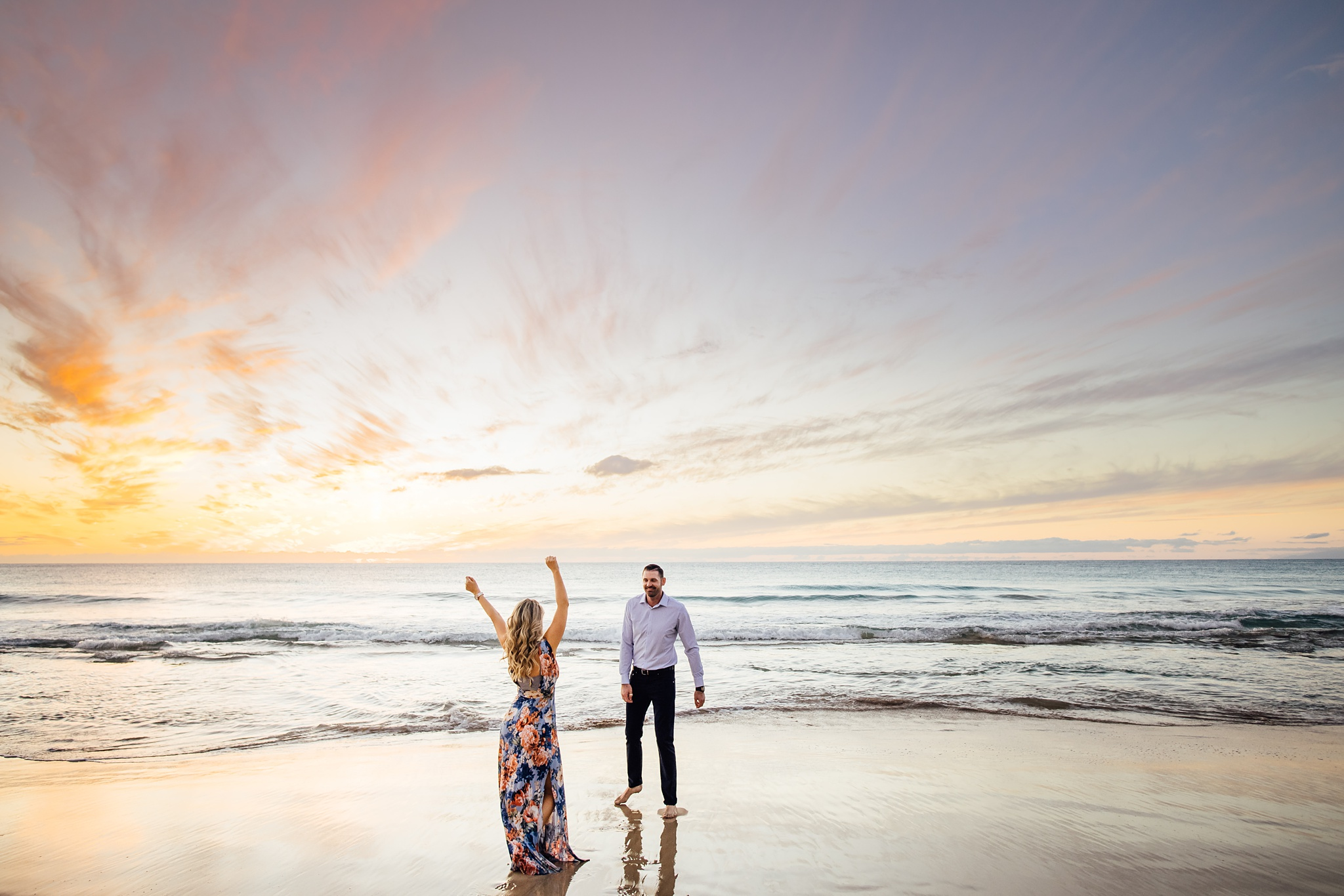 fun engagement session big island hawaii
