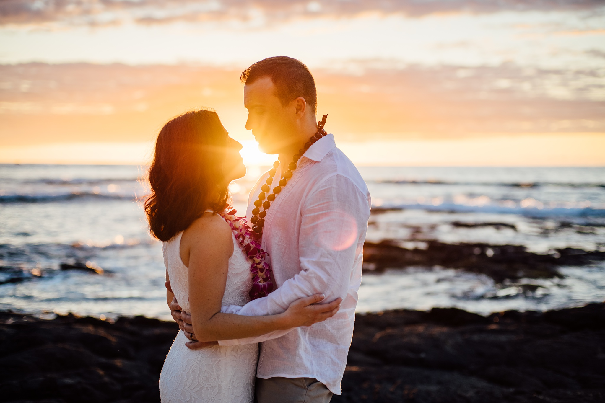 Sunset Flare on Kikaua Beach