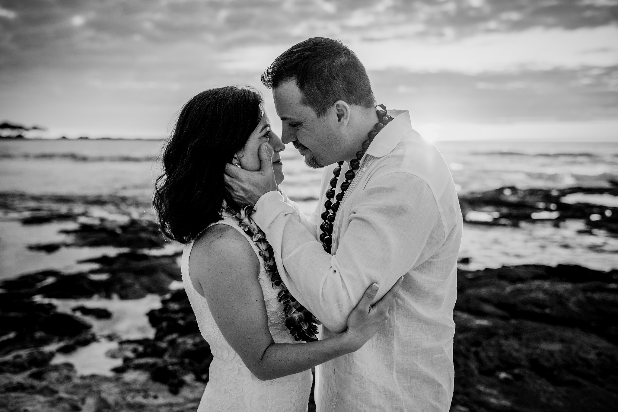 Big Island elopement with a couple