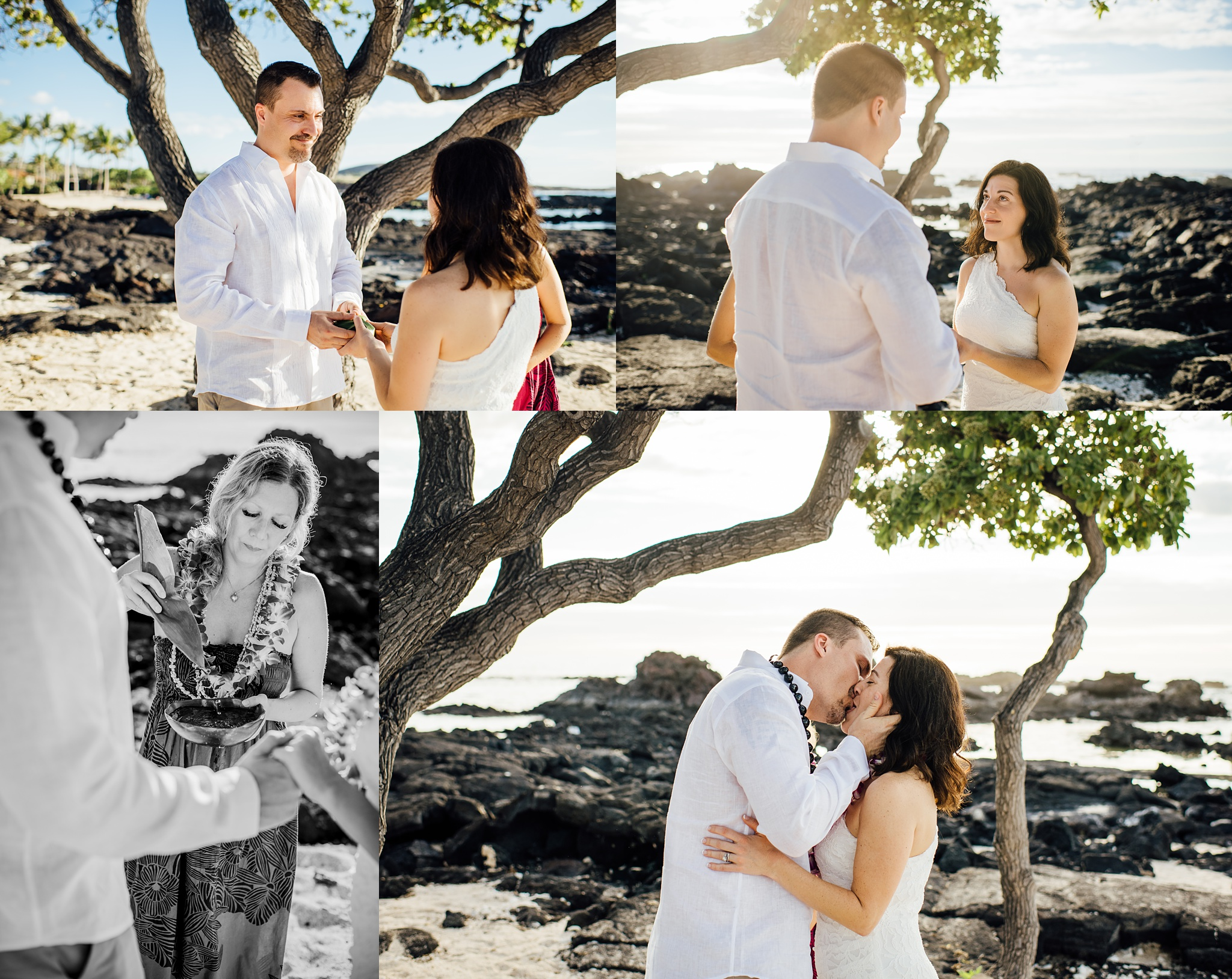 Simple Kona Beach Weddings Big Island