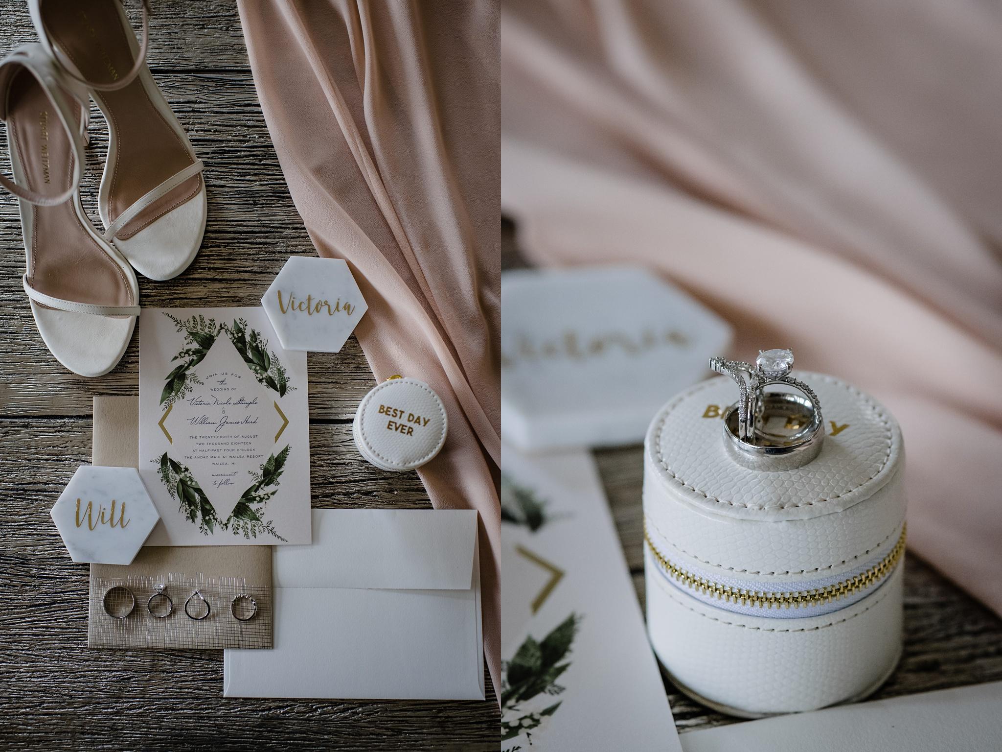 Wedding details from a Maui wedding