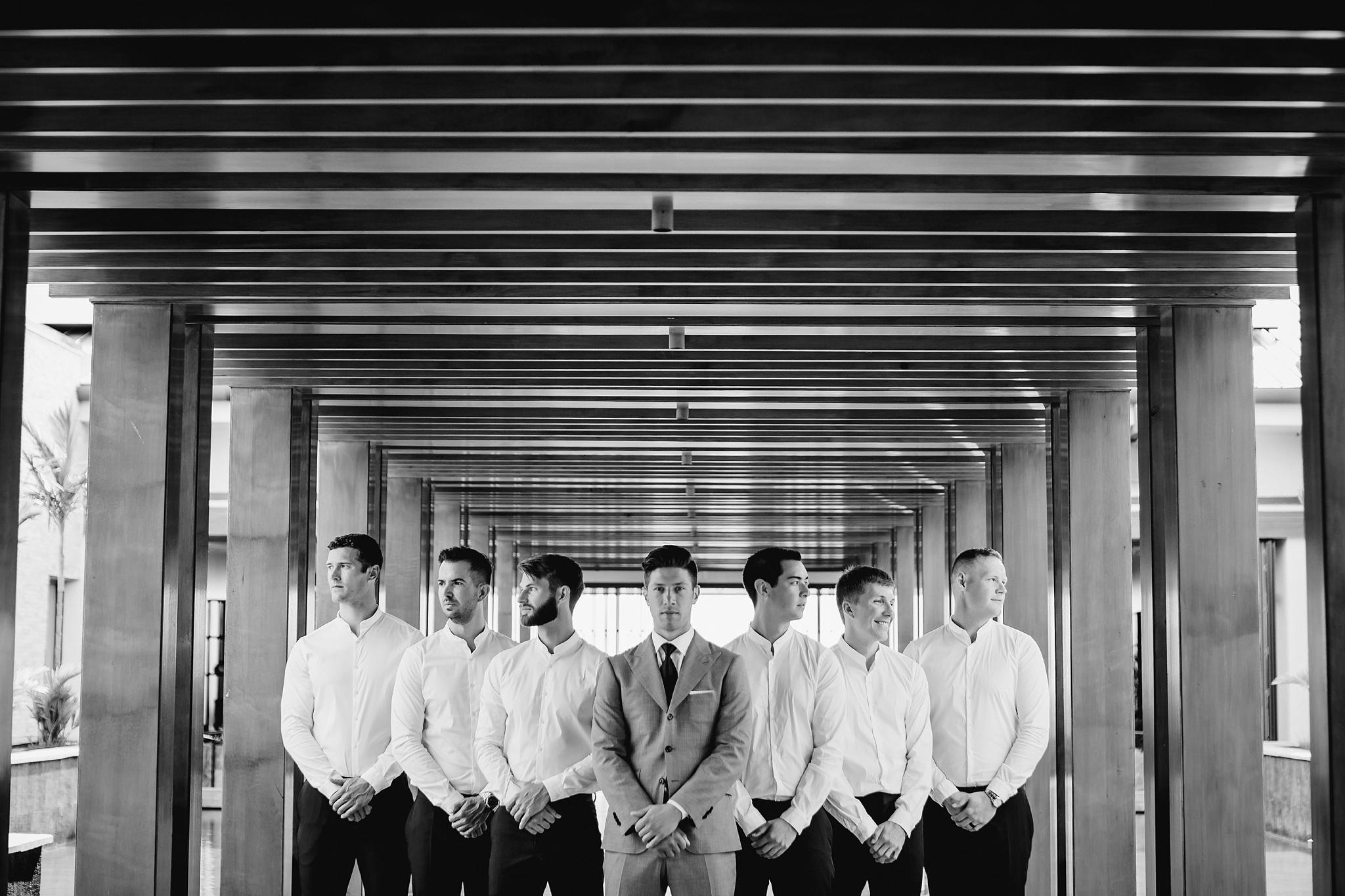 the groom and his guys, maui wedding