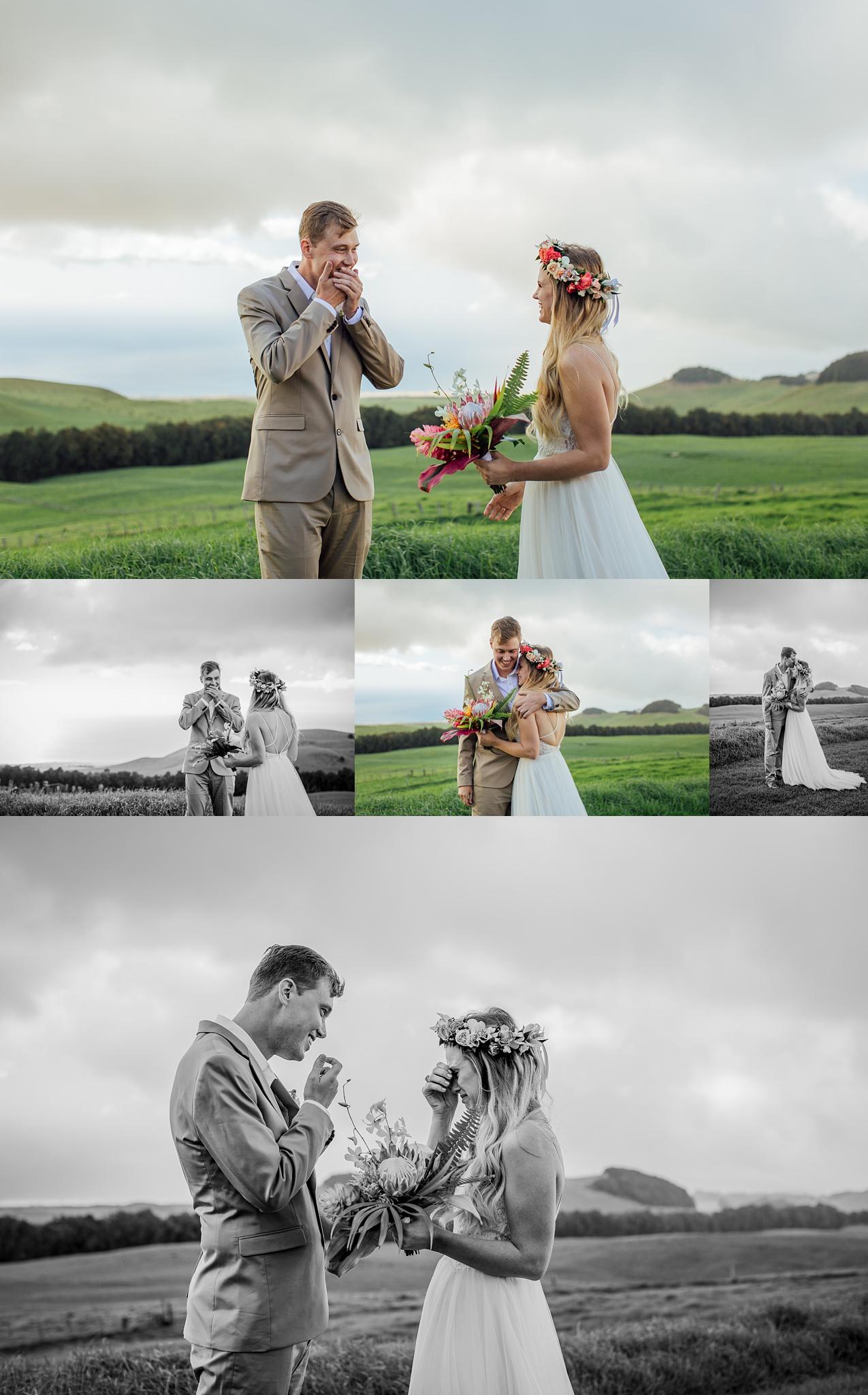 First look at hawaii wedding