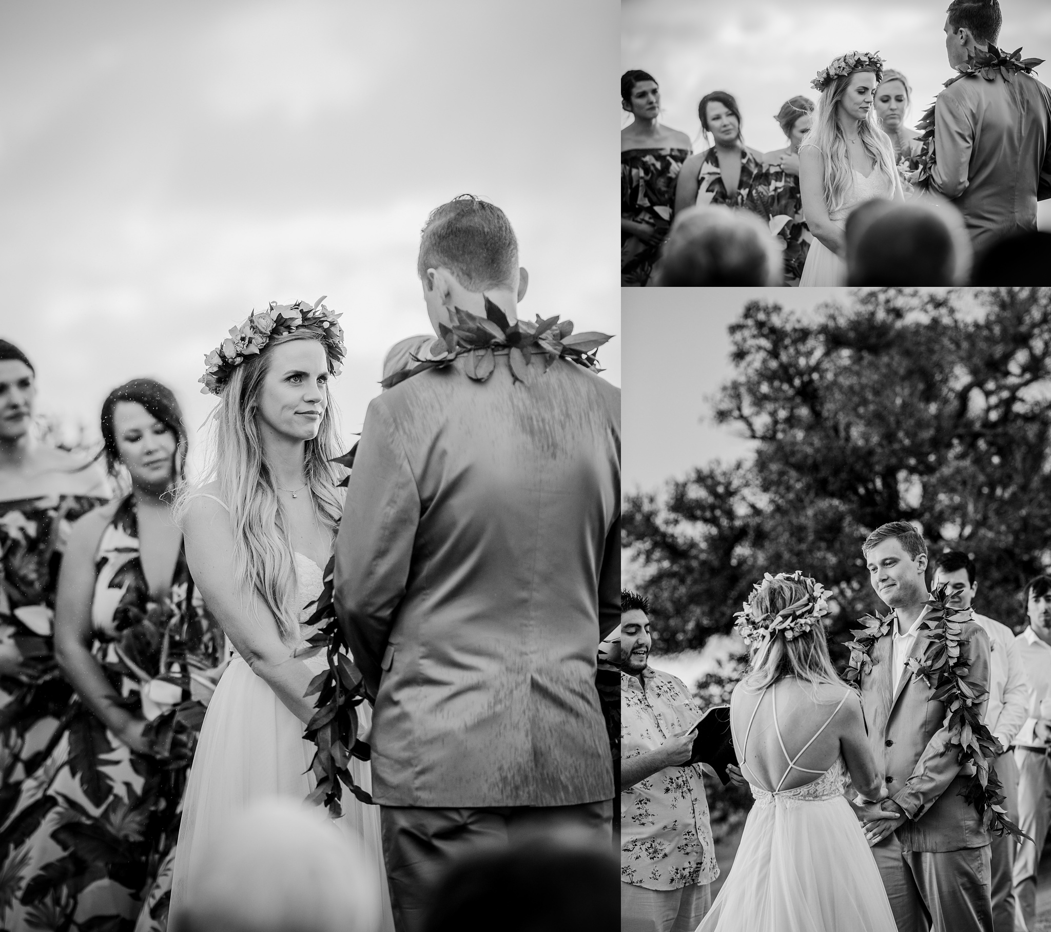 sweet moment during a wedding ceremony in hawaii