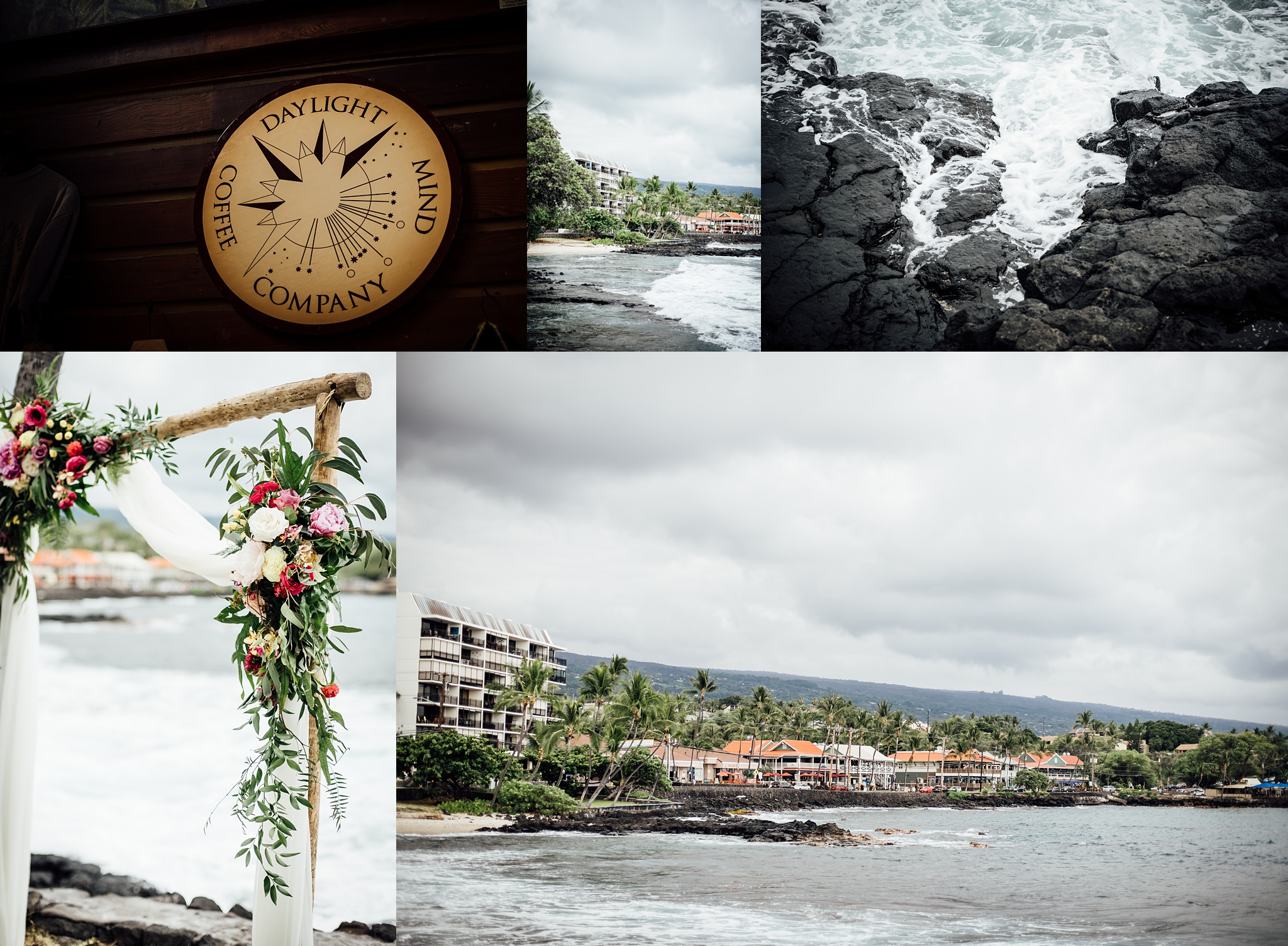 Daylight Mind Wedding in Kona details