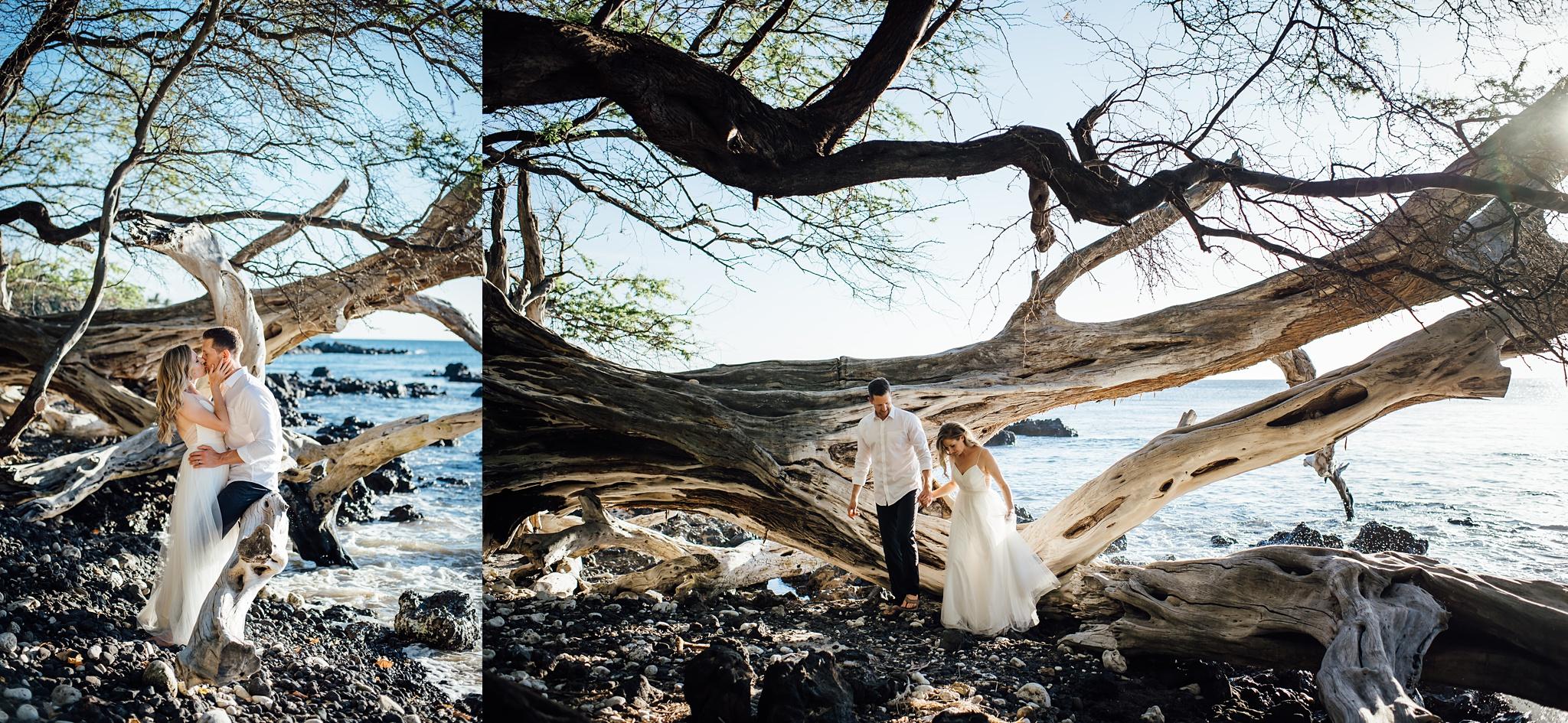 hawaii adventure elopement in kona