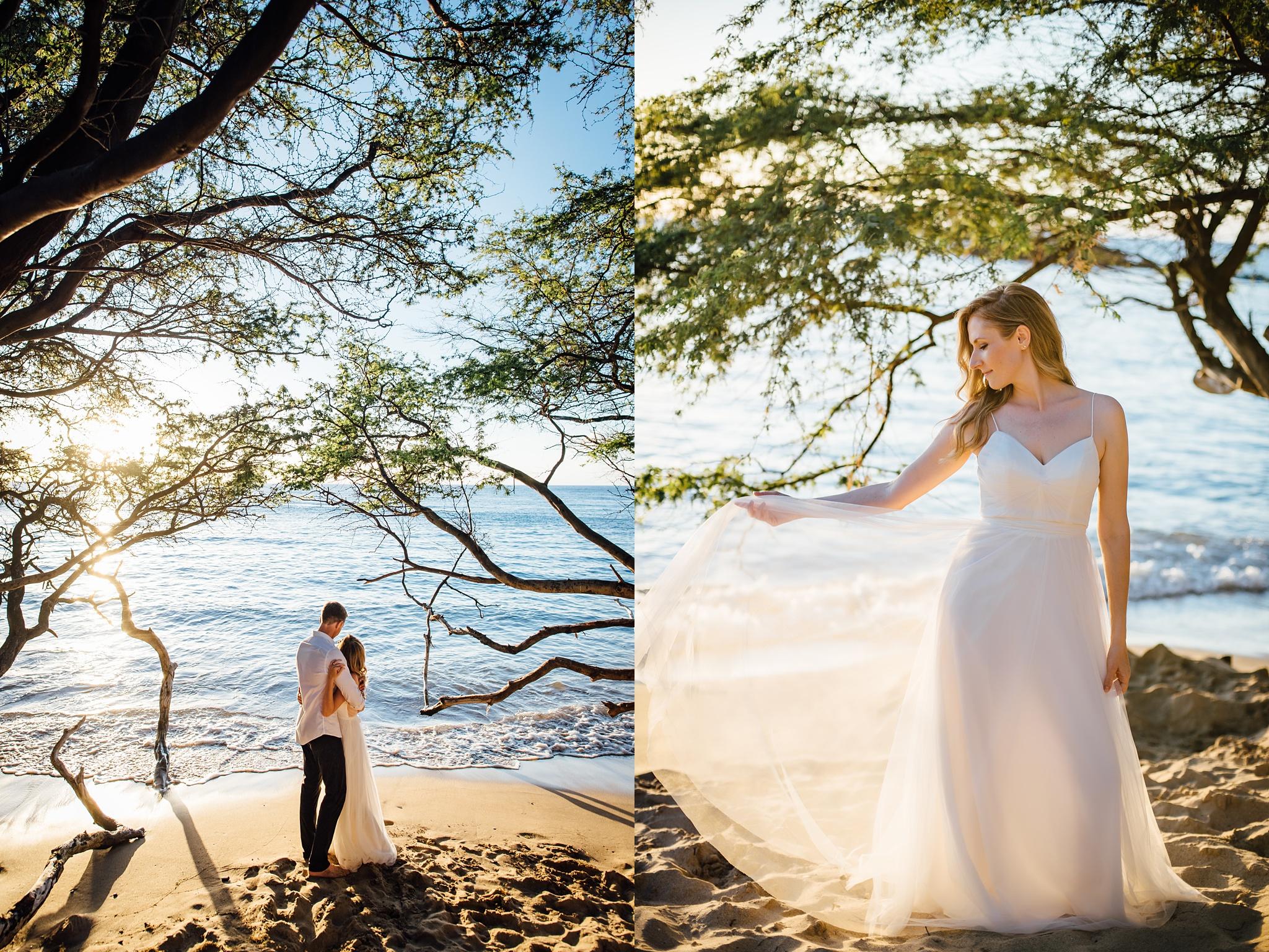bridal portraits during a hawaii elopement