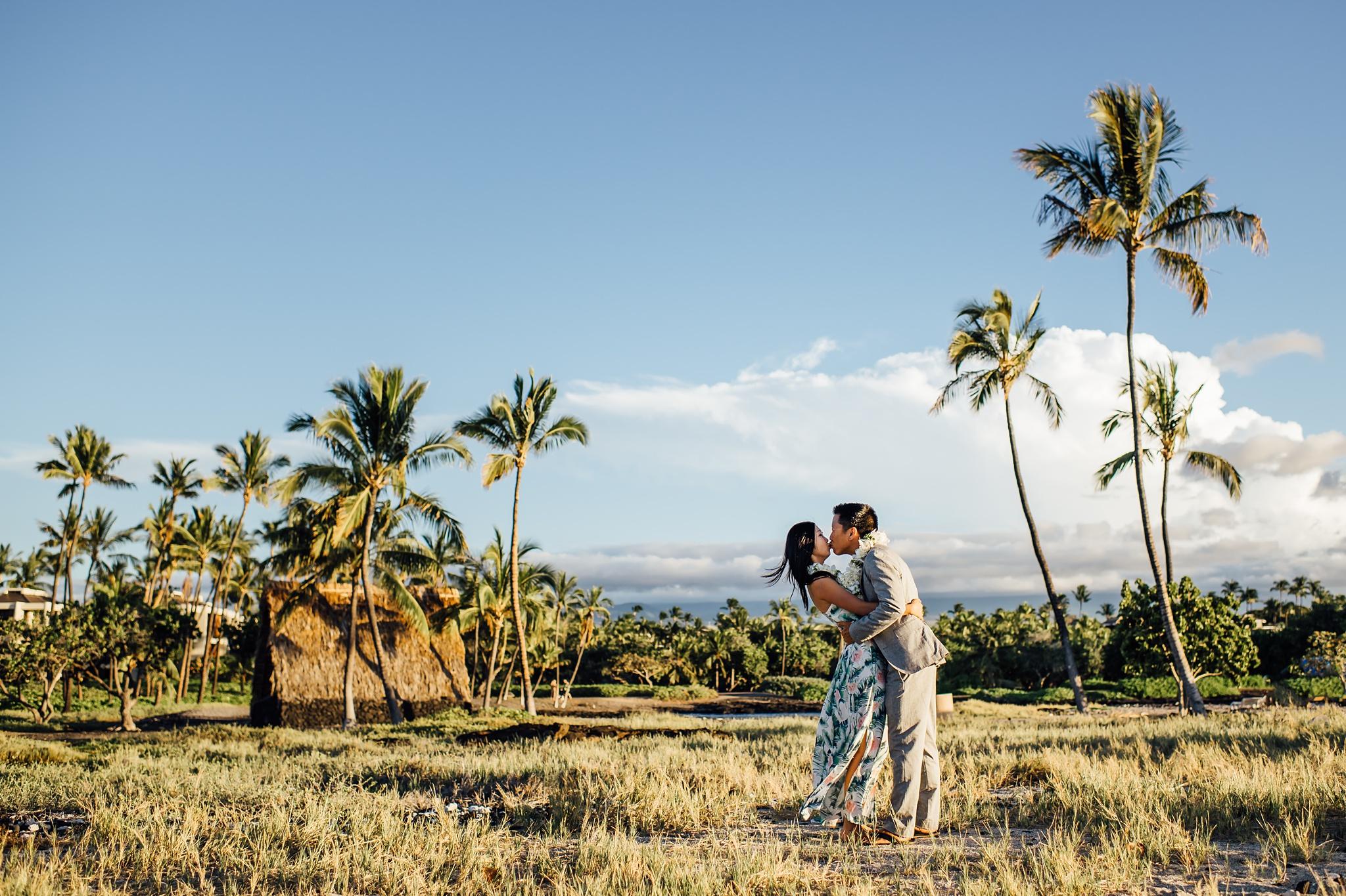 Hawaii tropical elopement at mauna lani