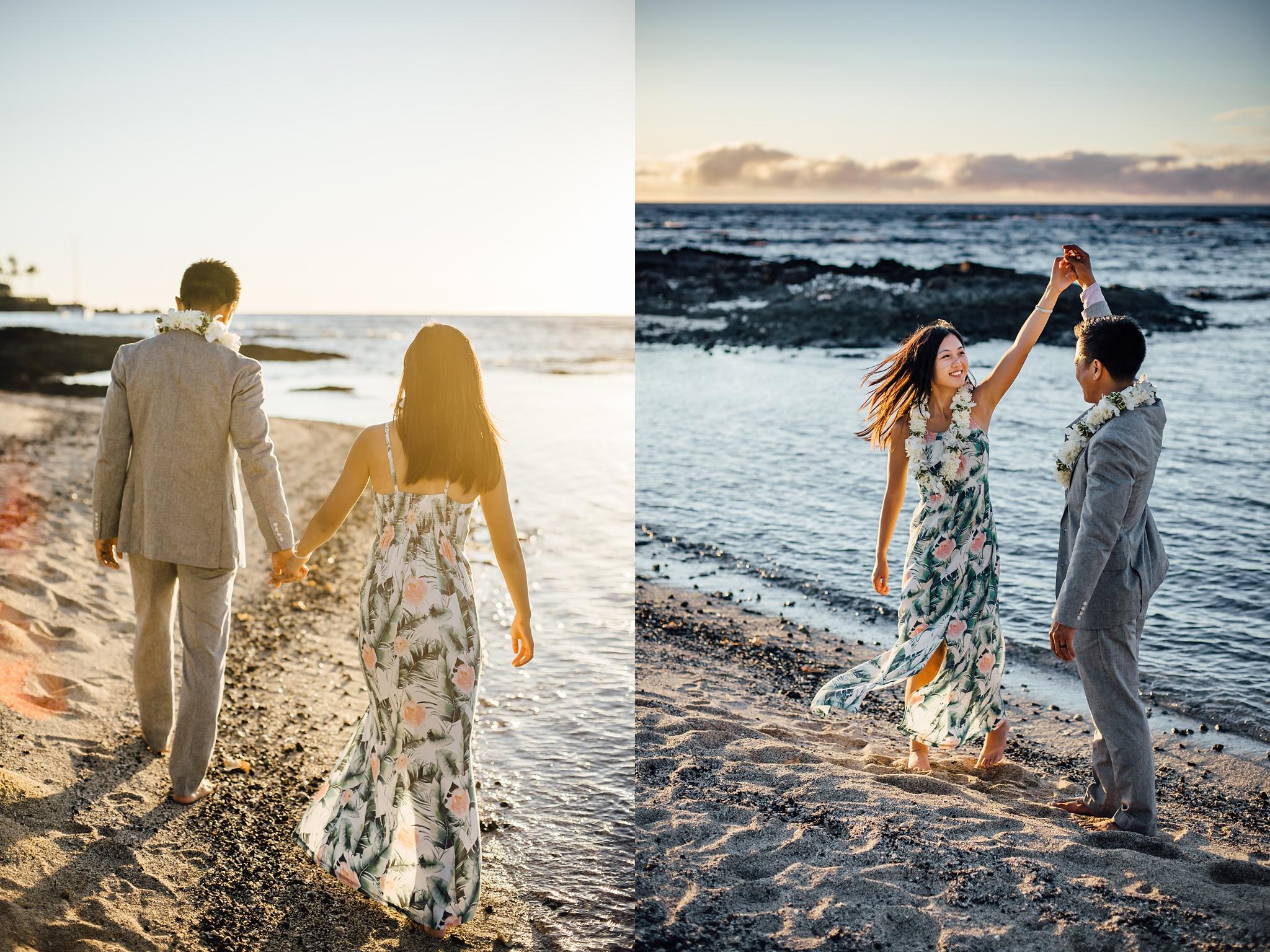 Sunset wedding in hawaii