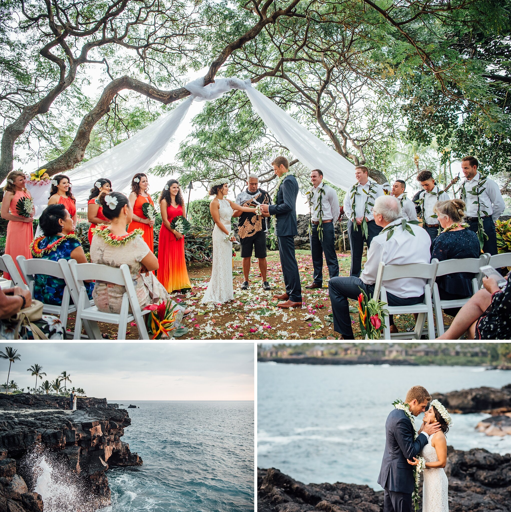 Big Island Wedding Venue at Sheraton Kona captured by Ann Ferguson Photography
