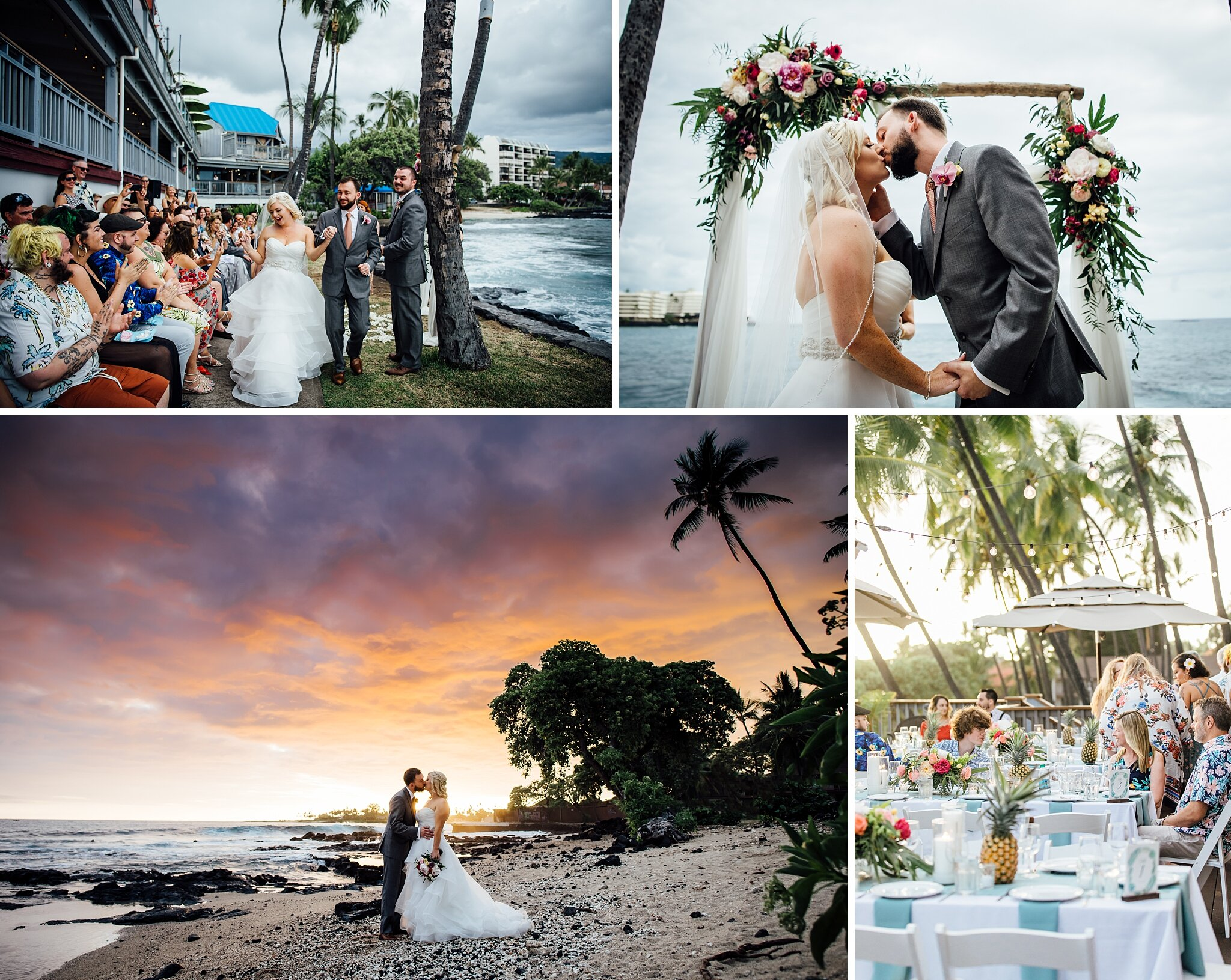 Big Island Wedding Venue at Papa Kona by Ann Ferguson Photography