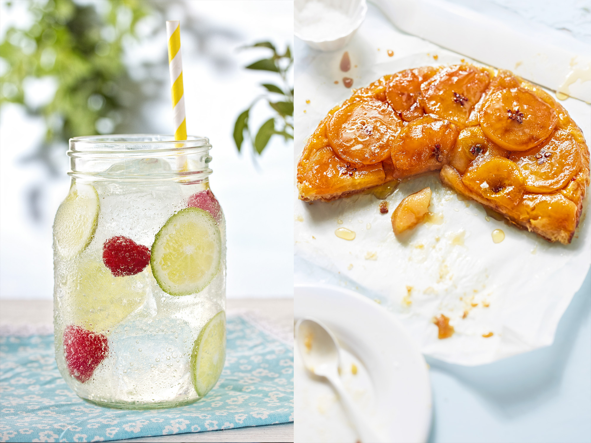 Limonade and apple tart