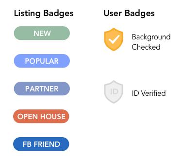 Badge logic: Listing vs. User distinction
