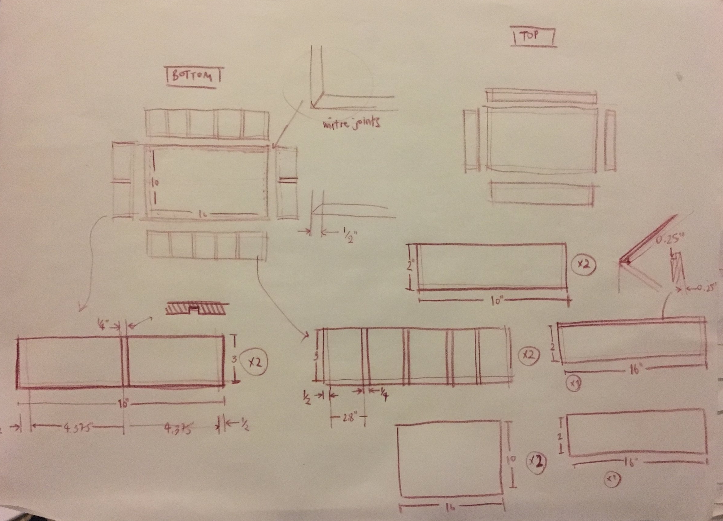 Sketches for manufacture