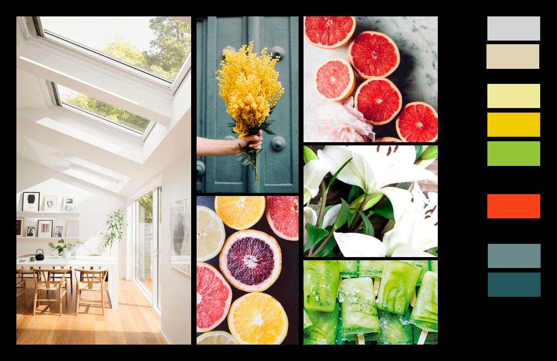Chosen Colour Inspiration Board: Inviting but Professional