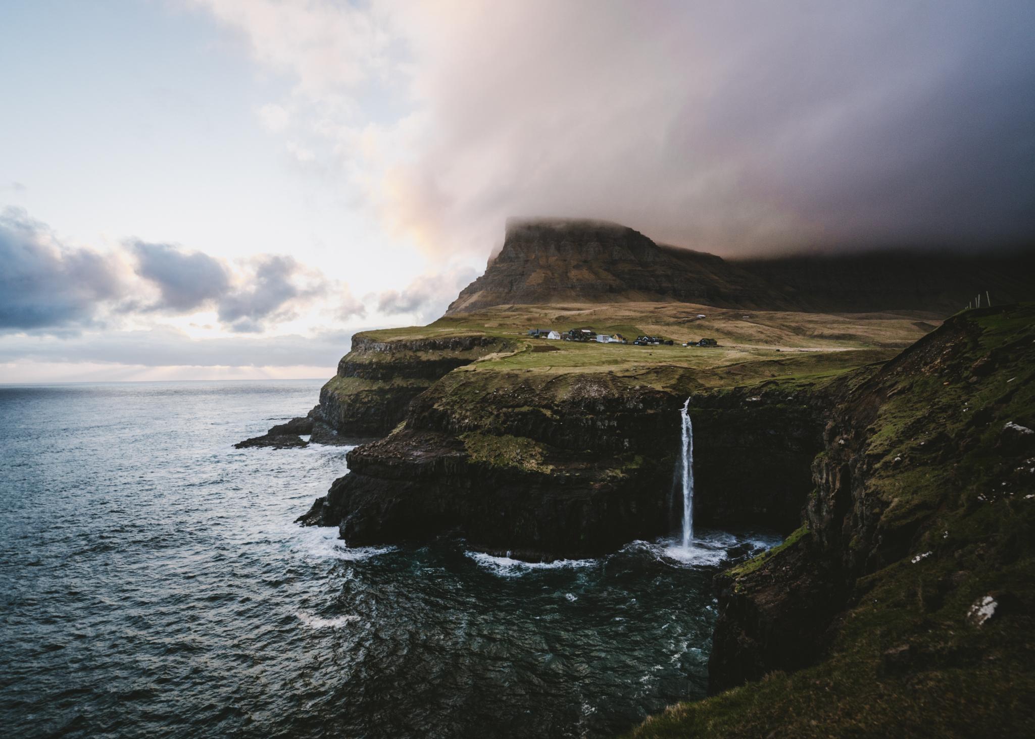 Múlafossur Waterfall,Gásadalur
