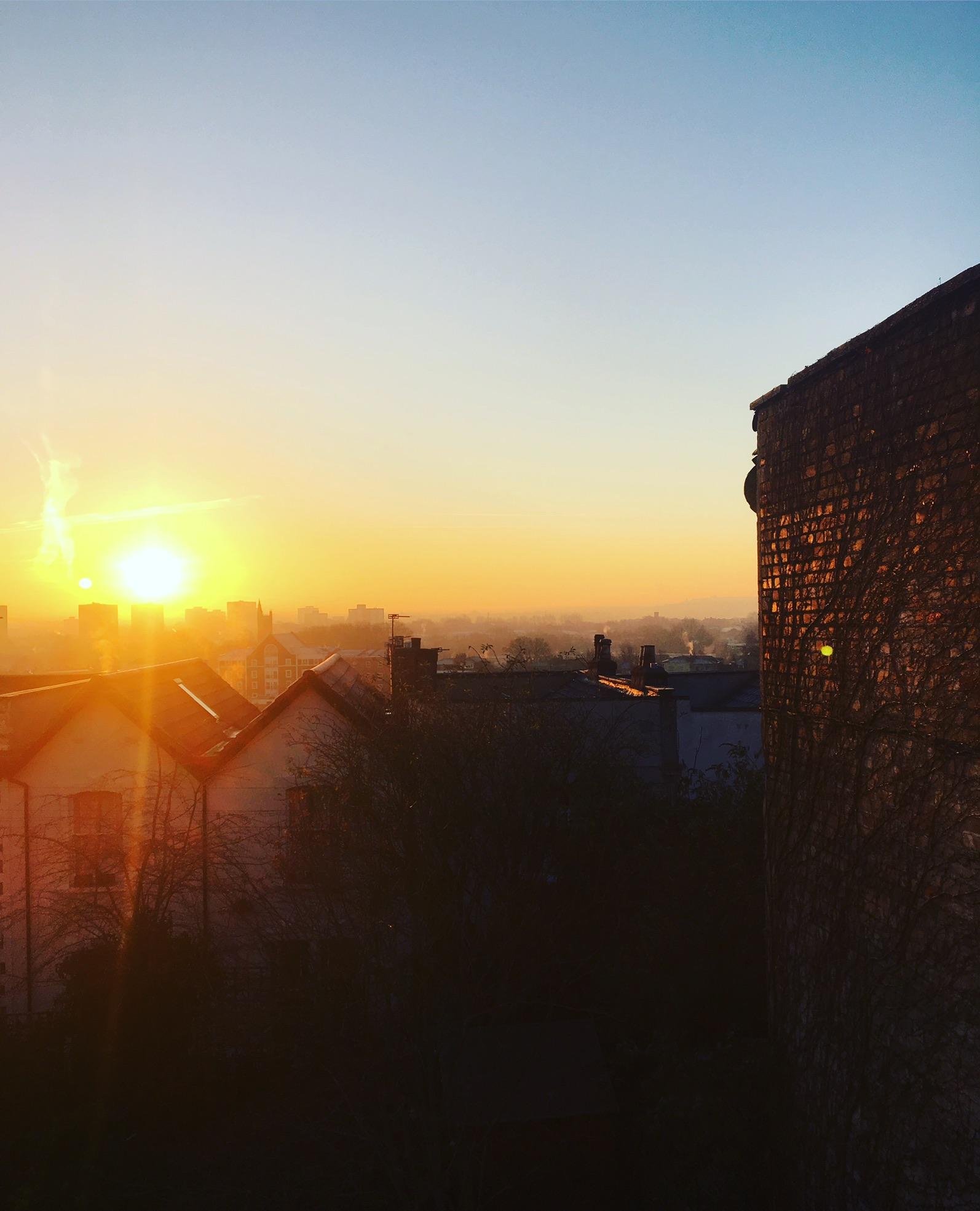 Bristol morning sunshine from my bedroom window