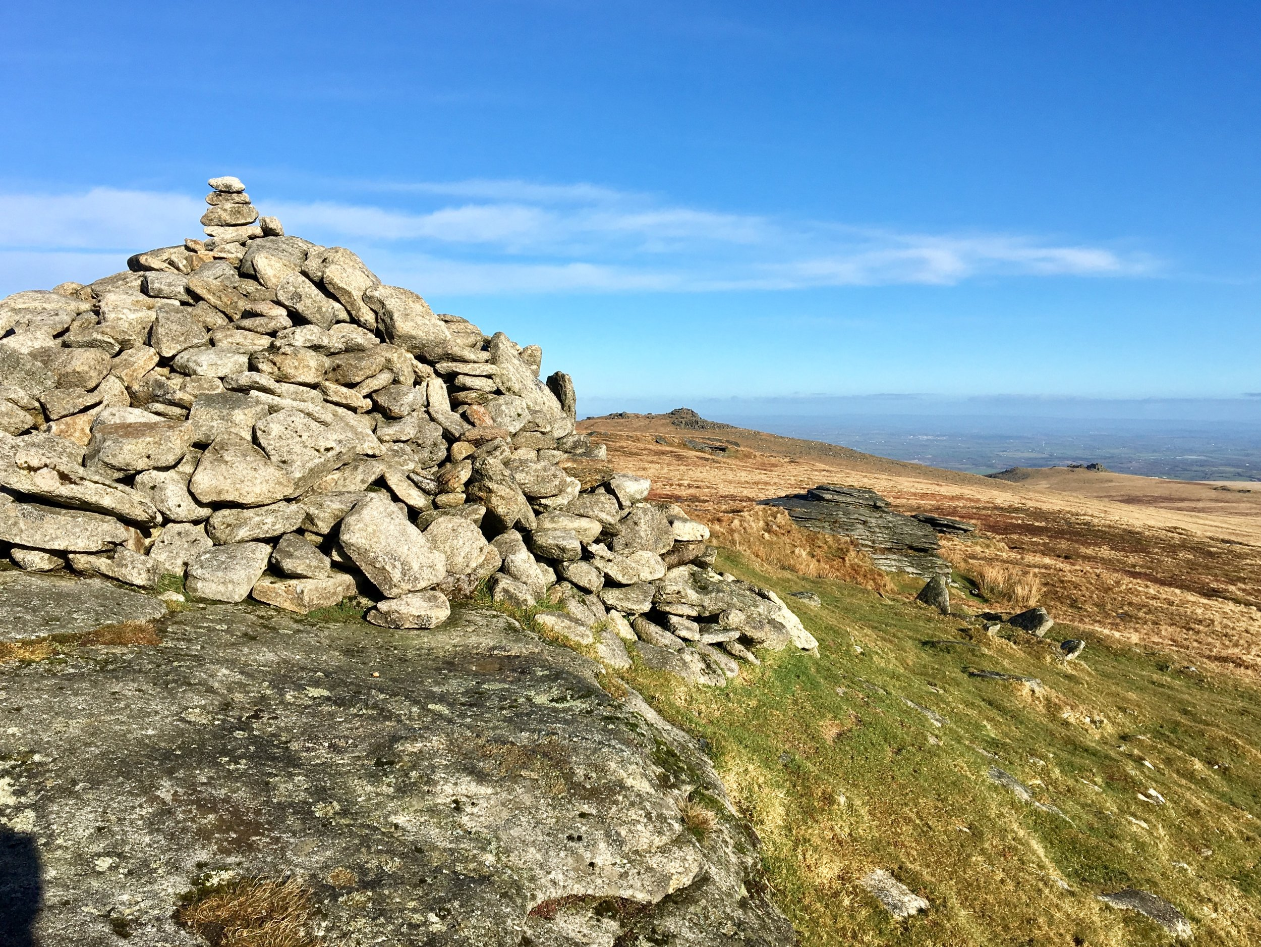 High Willhays view to Yes Tor, Dartmoor, Devon UK. February 2017