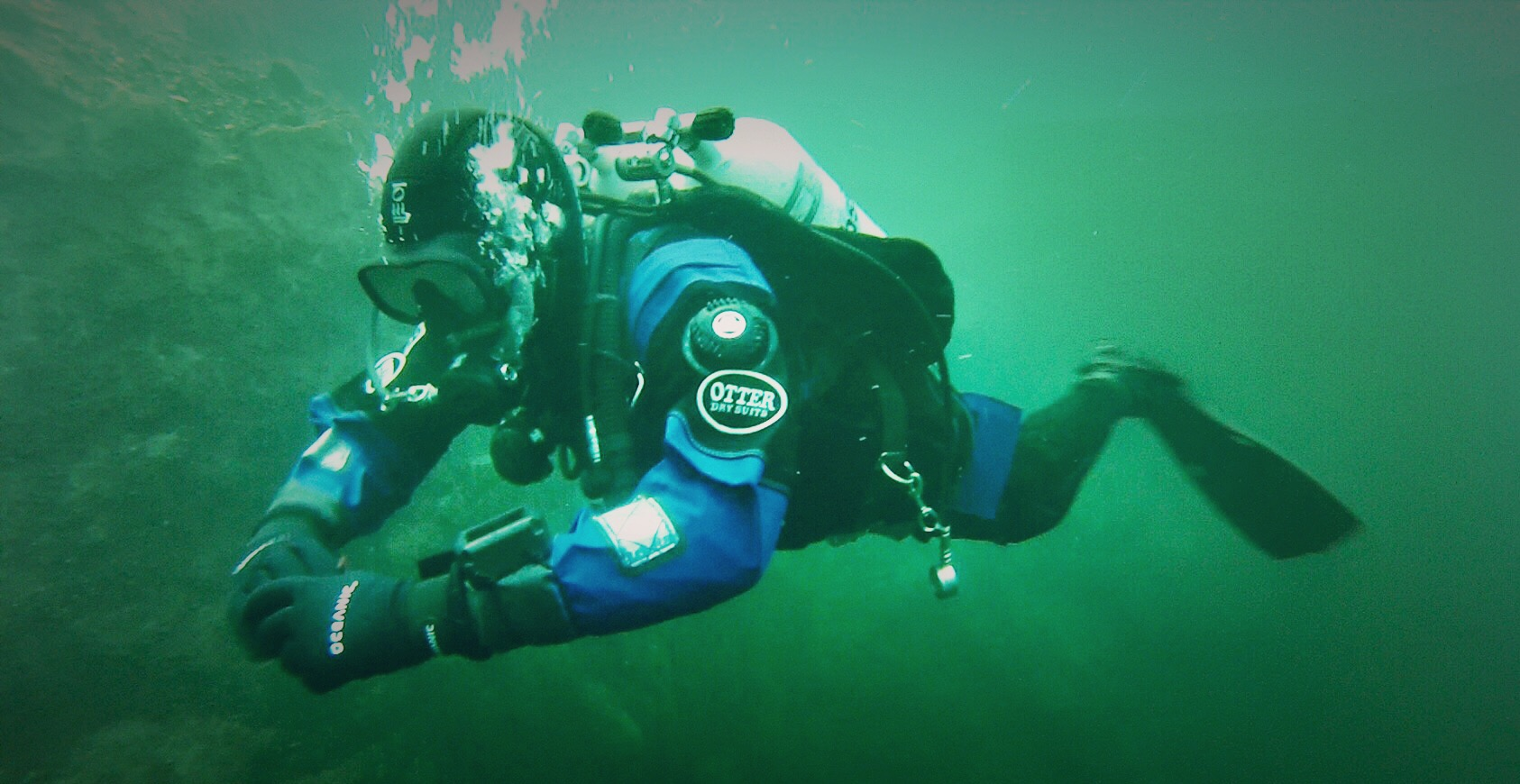 Diving in Vobster Quay, photo taken by Joshua Yates. February 2017