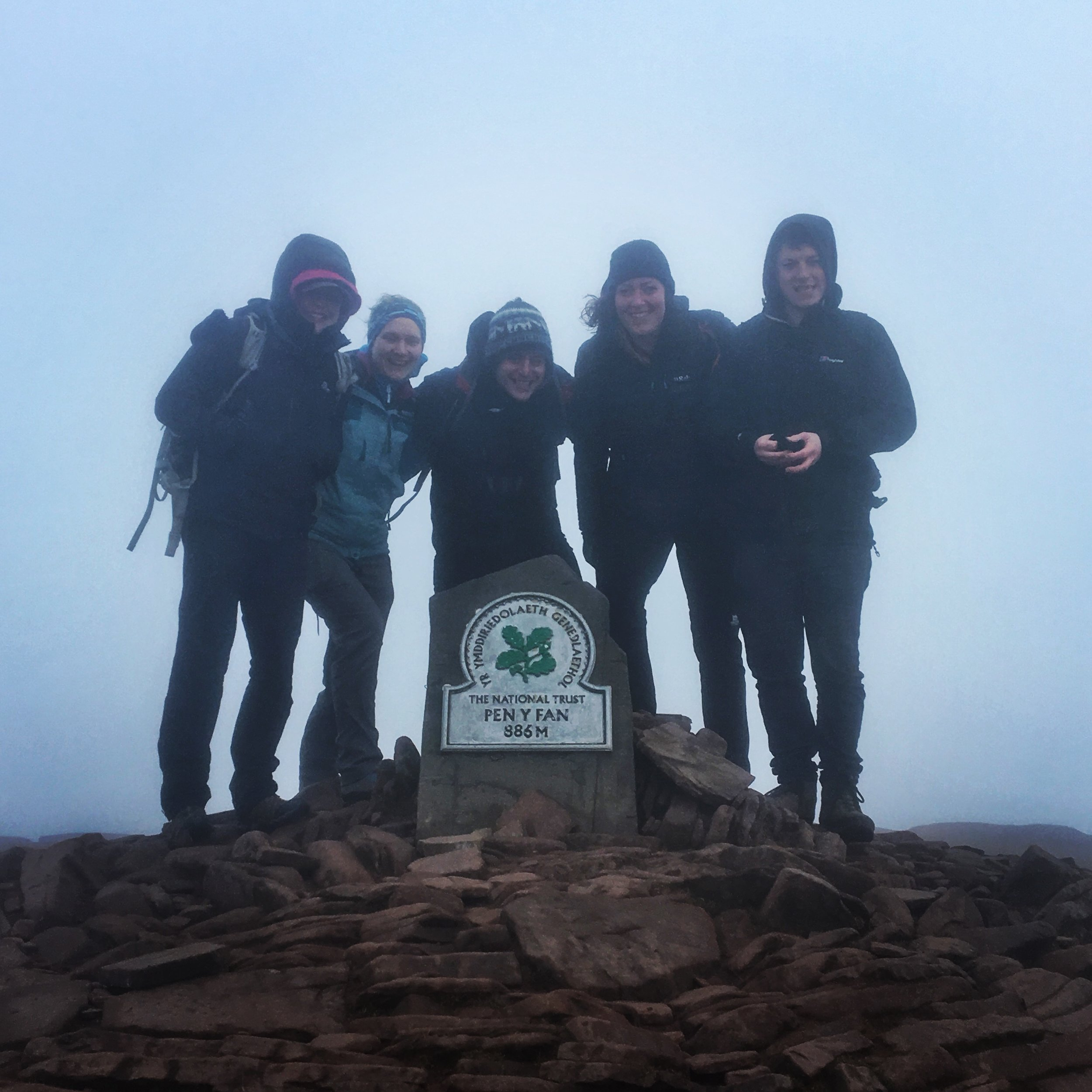 At the top of Pen Y Fan, Feb 2017