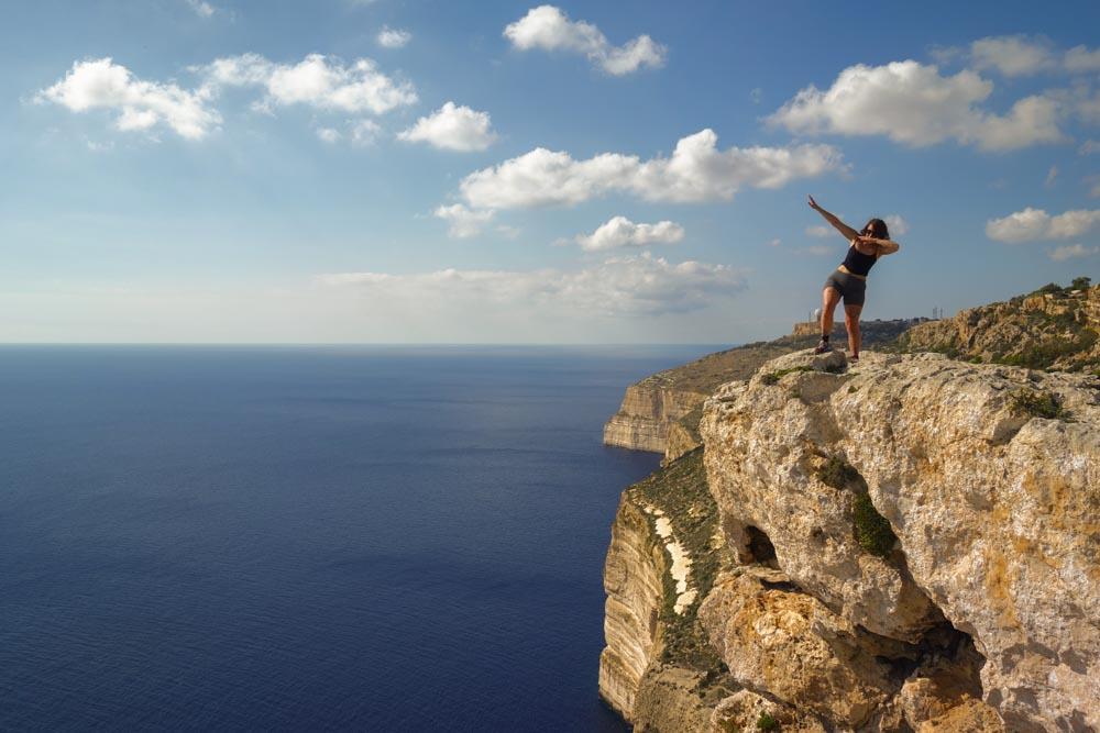 Harry at Dingli Cliffs