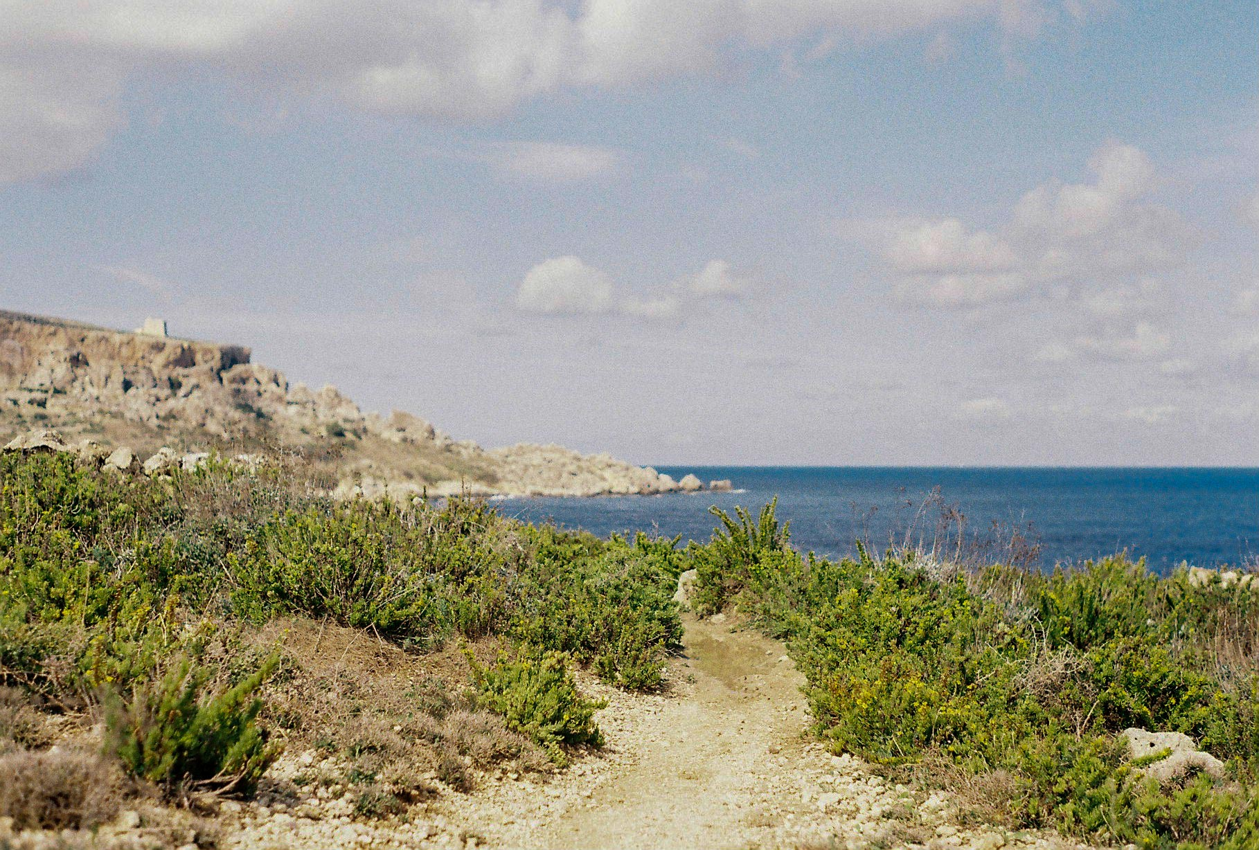Coastal path, South Malta, October 2018. Pentax K1000, Kodak Colour 250