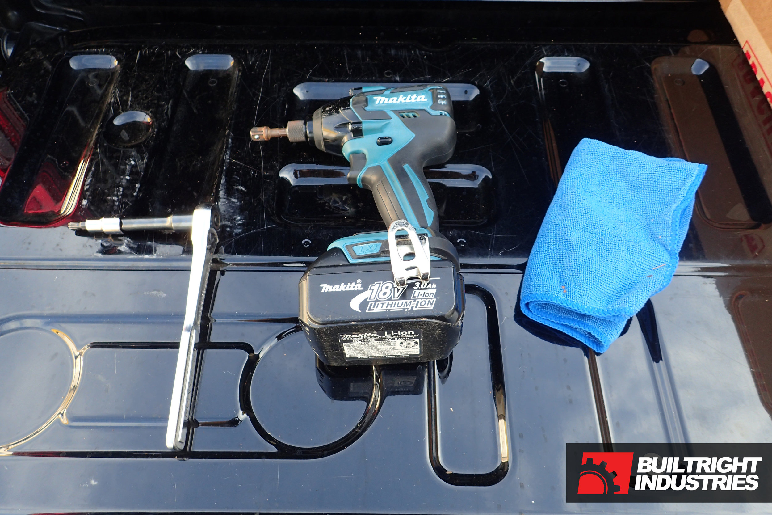 builtright industries bedside rack installation f-150 tools