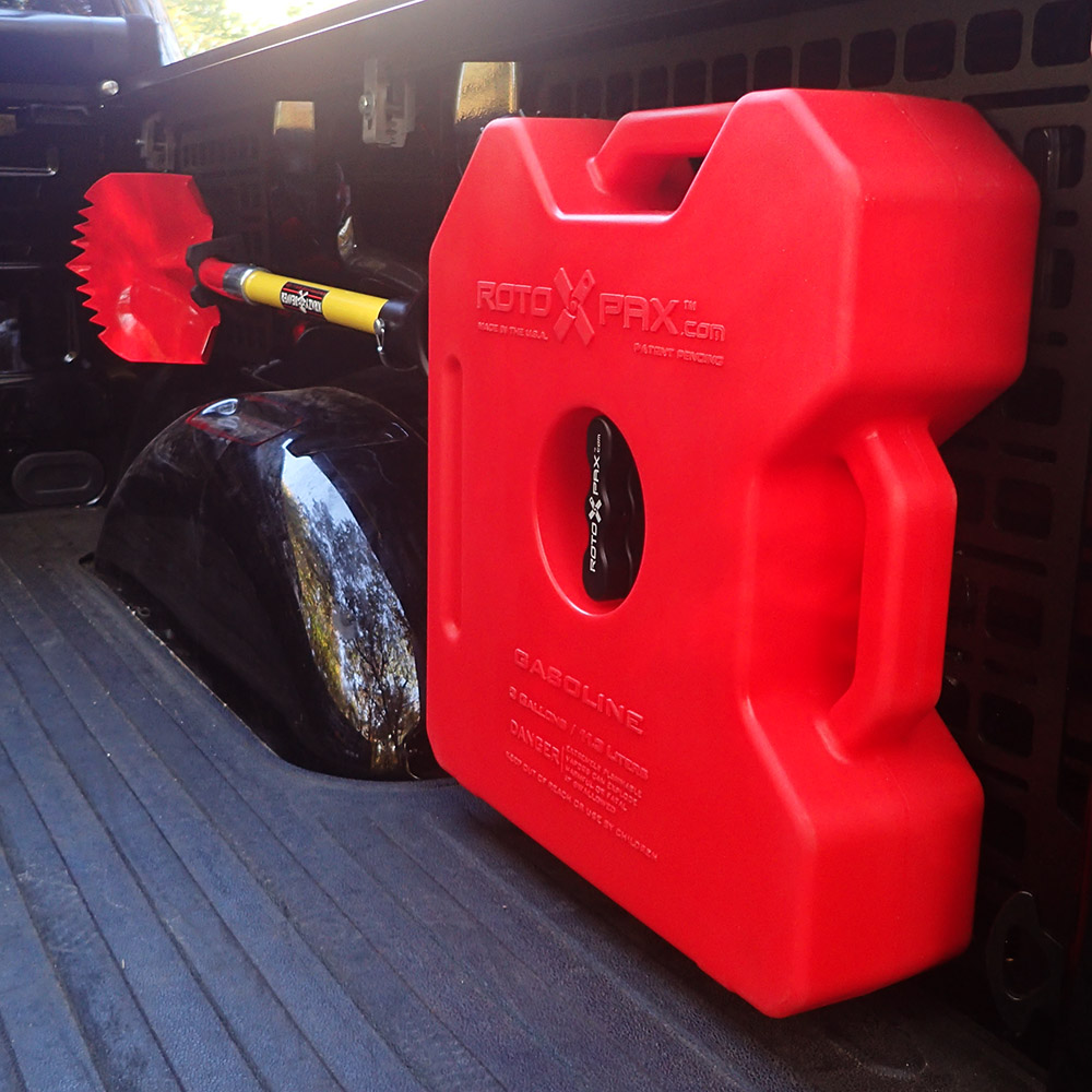 BuiltRight Industries F-150 Superduty Raptor Bed Storage Rotopax Fuel Jerry Can