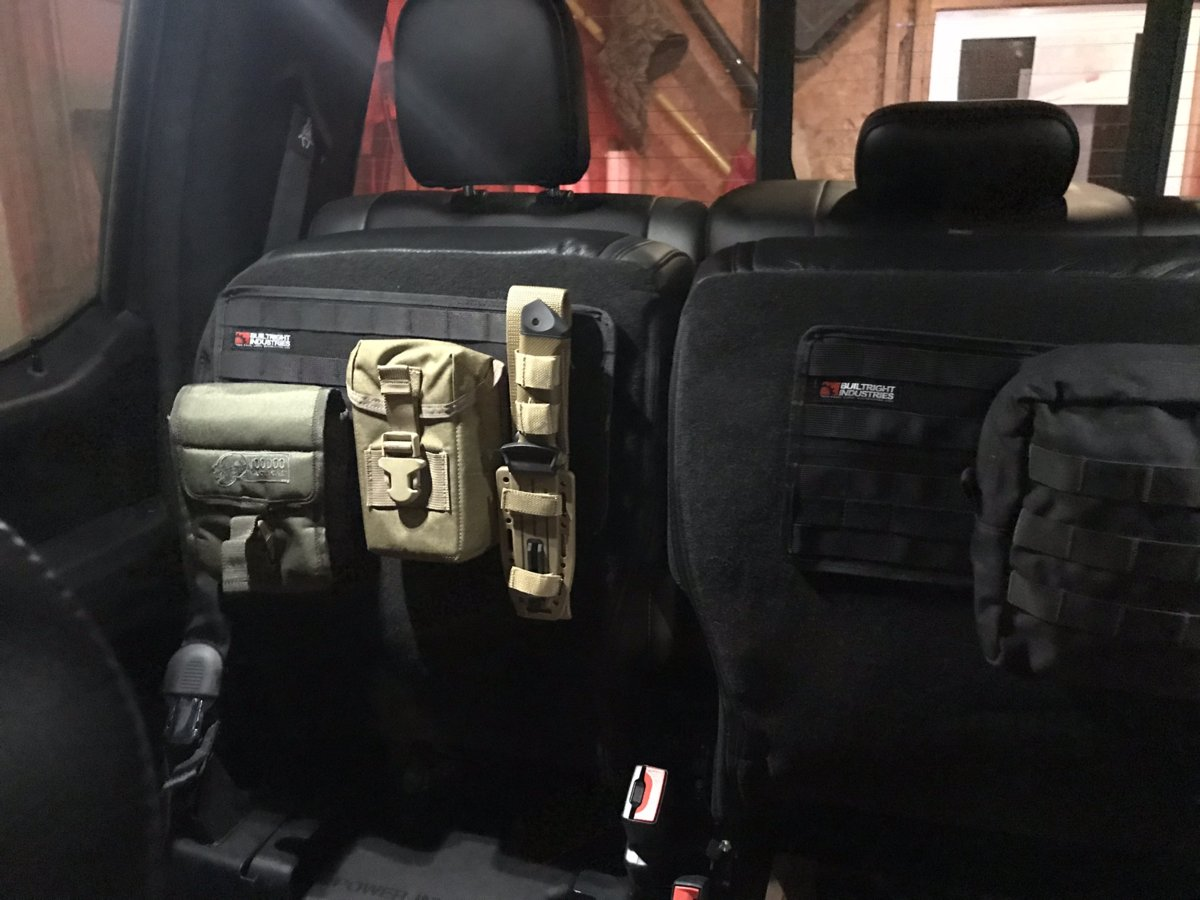 """""""This works great under the back seat of my F-150! I can keep everything organized and easy to access quickly. Love it!! A word of advice, keep the heavier bags towards the center of the panels."""" -  Kellie from Amazon"""