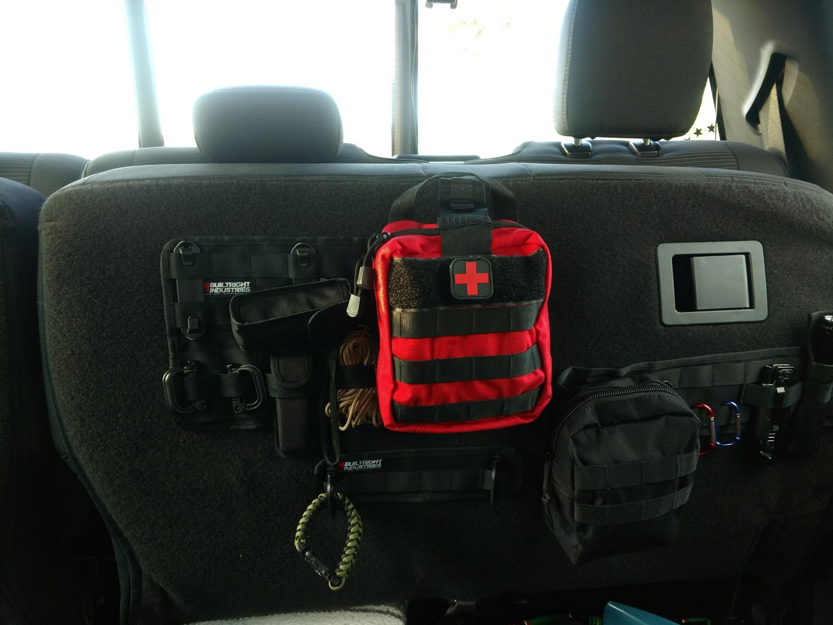 """""""There are certain things that my Matt and I are sure to keep in the car, like first aid kits. The BuiltRight panels are a perfect way to ensure that they're where we left them when we need them!"""" - Meredith B. from Minnesota"""
