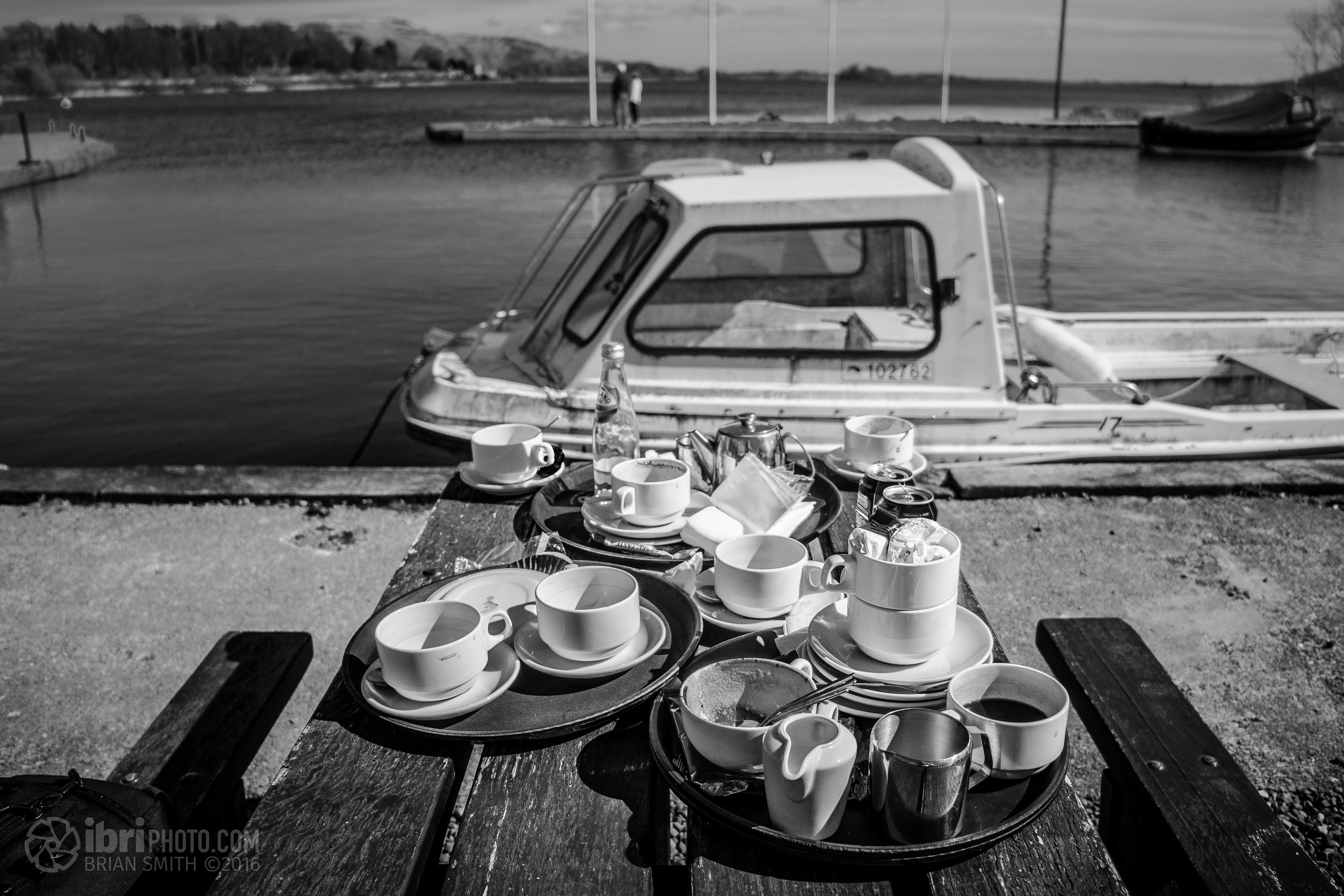 Loch Leven, Kinross. Tea and scones.