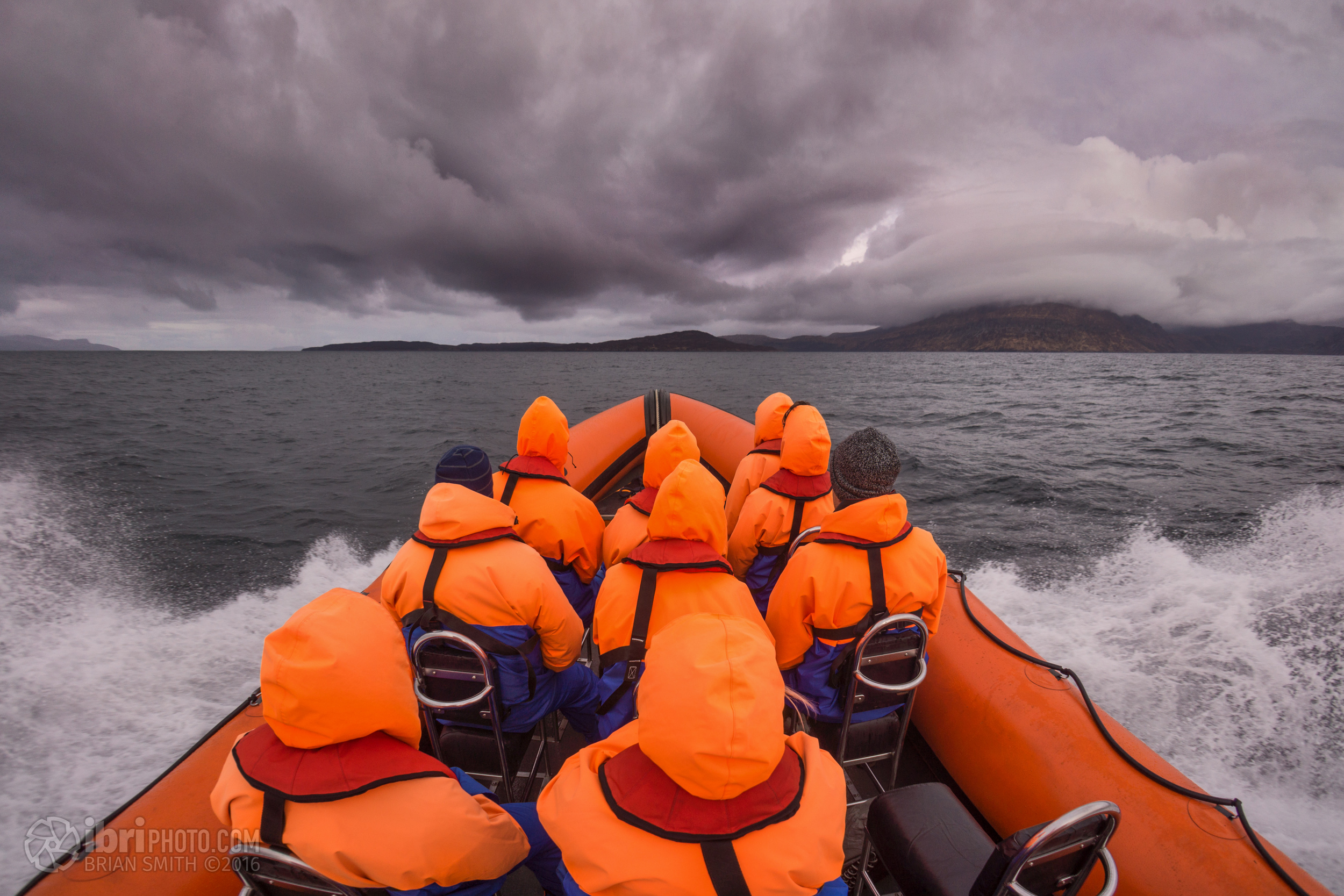 Heading out from  Elgol  and bouncing out towards the smaller islands around Skye
