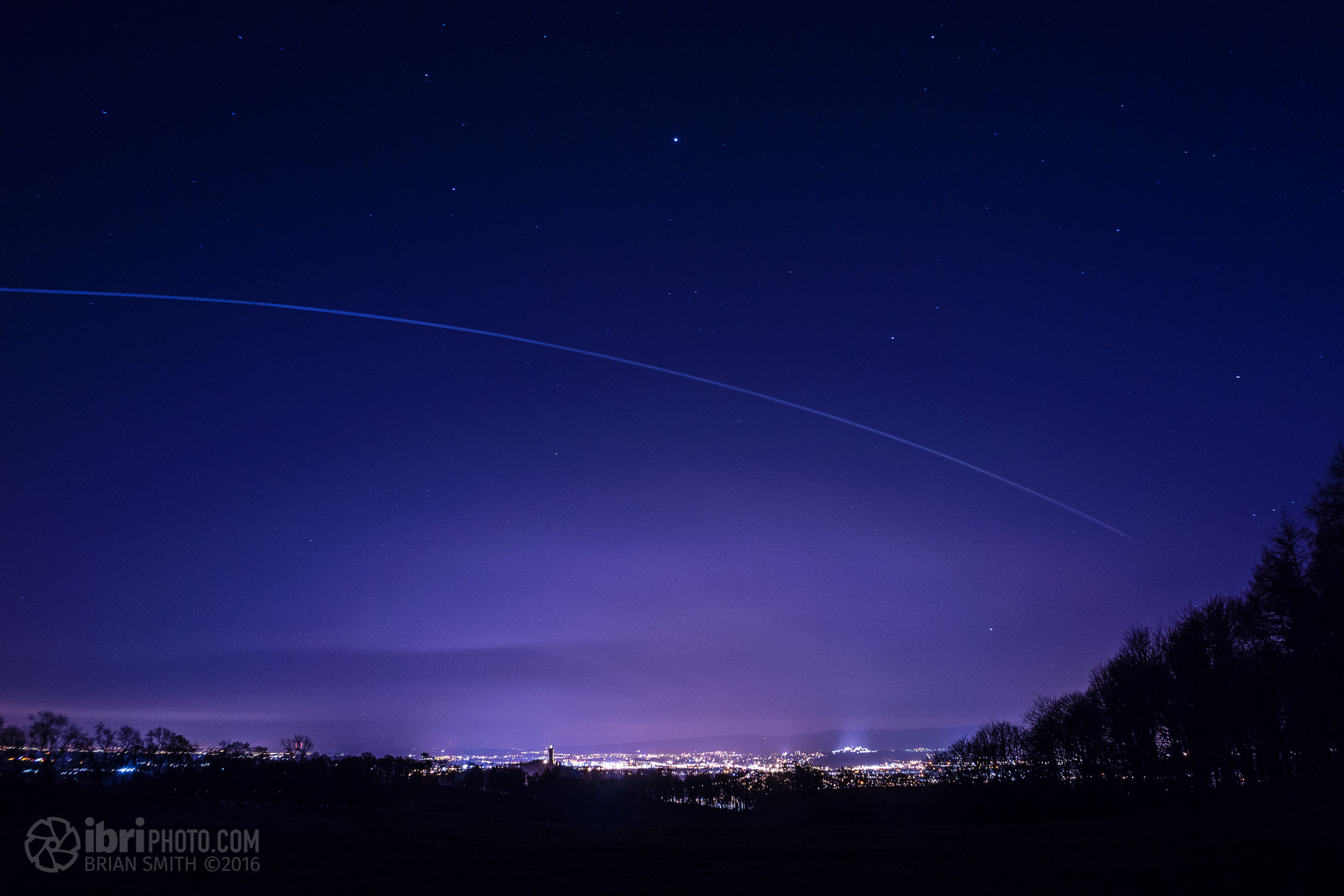 Capturing the International Space Station over Stirling.