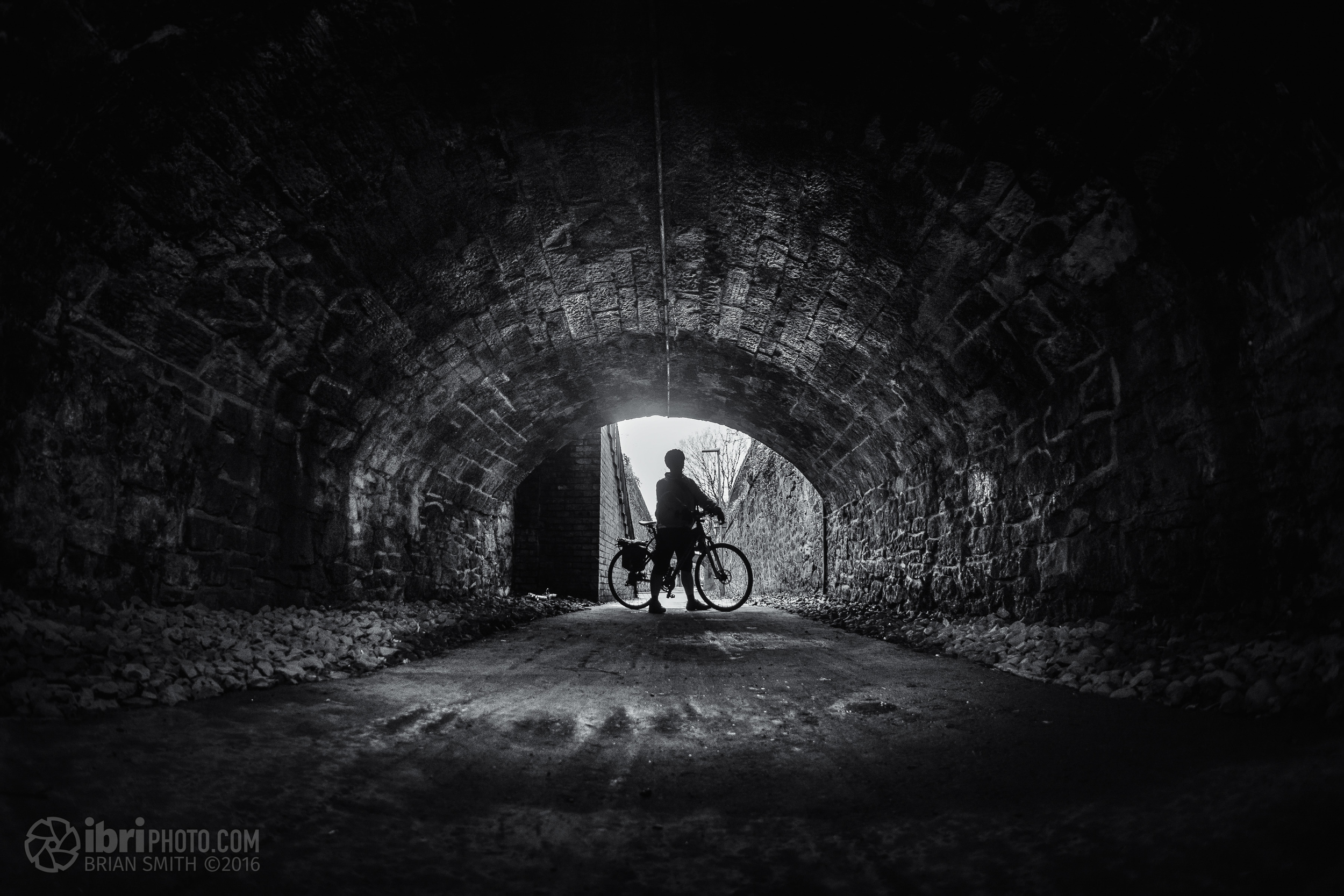 Sheltering form the rain in a tunnel along the old  Waggon Way  in Alloa.