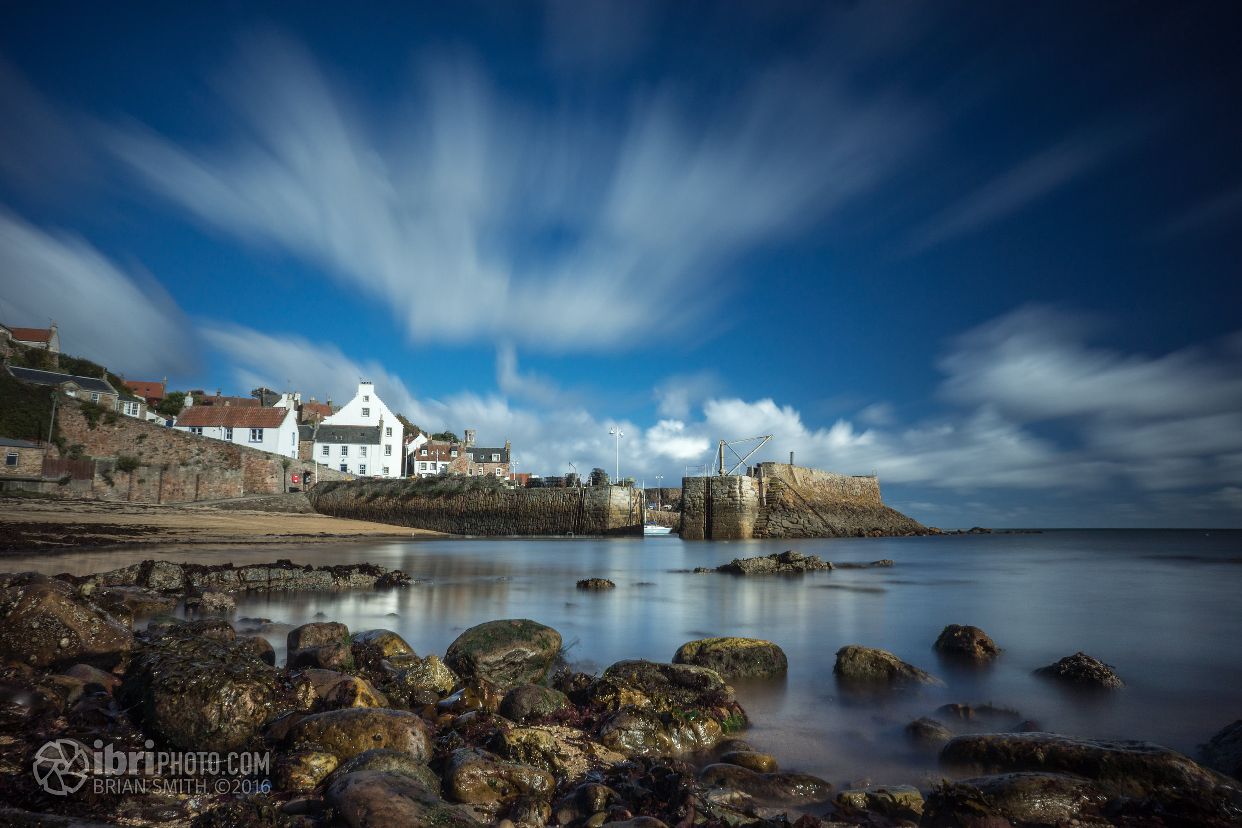 Looked and felt summery down on Crail beach (out of the breeze anyhow).