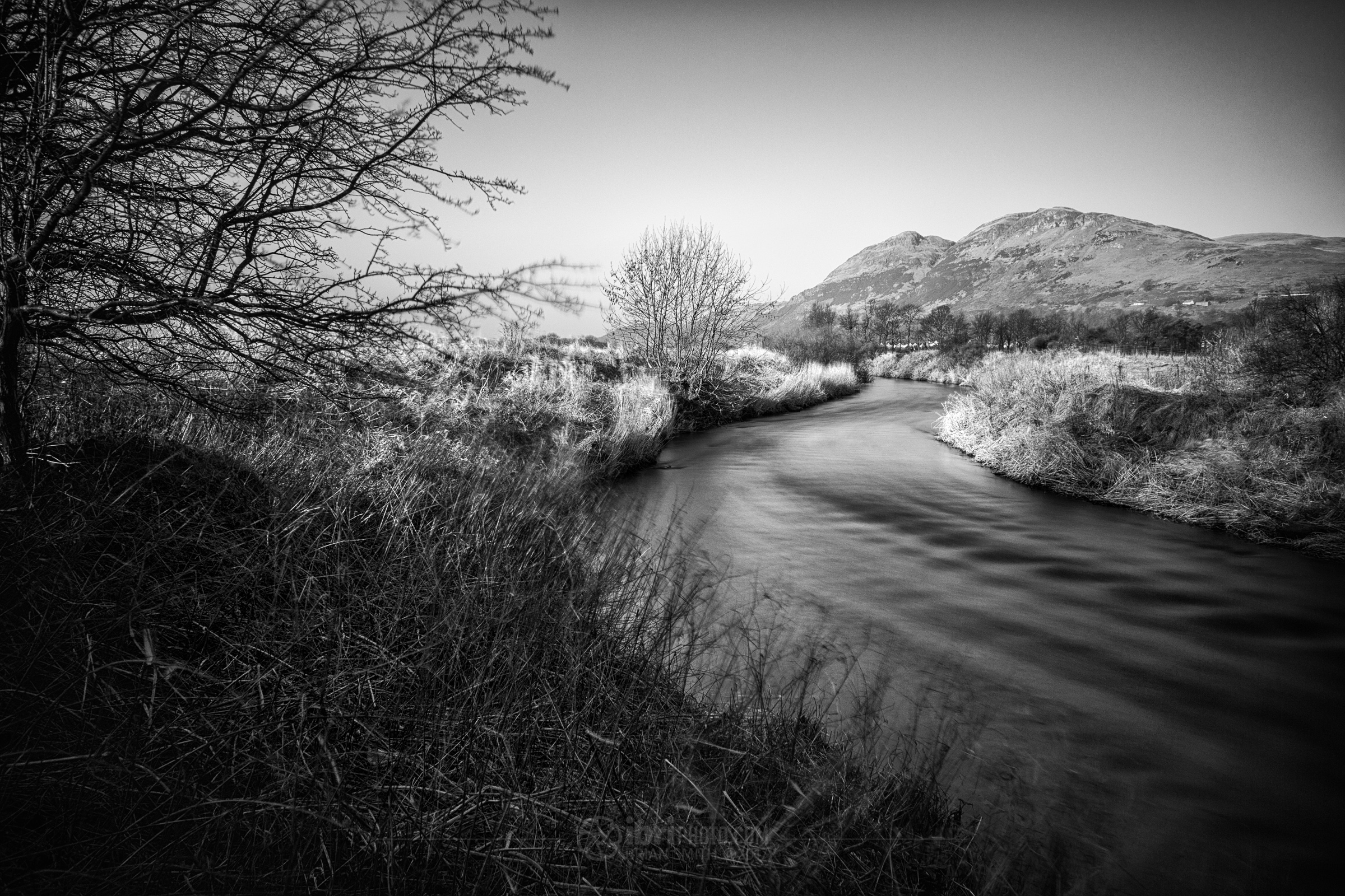 The River snakes its way across Clackmannanshire, spilling out in the Forth a few miles down river from here.