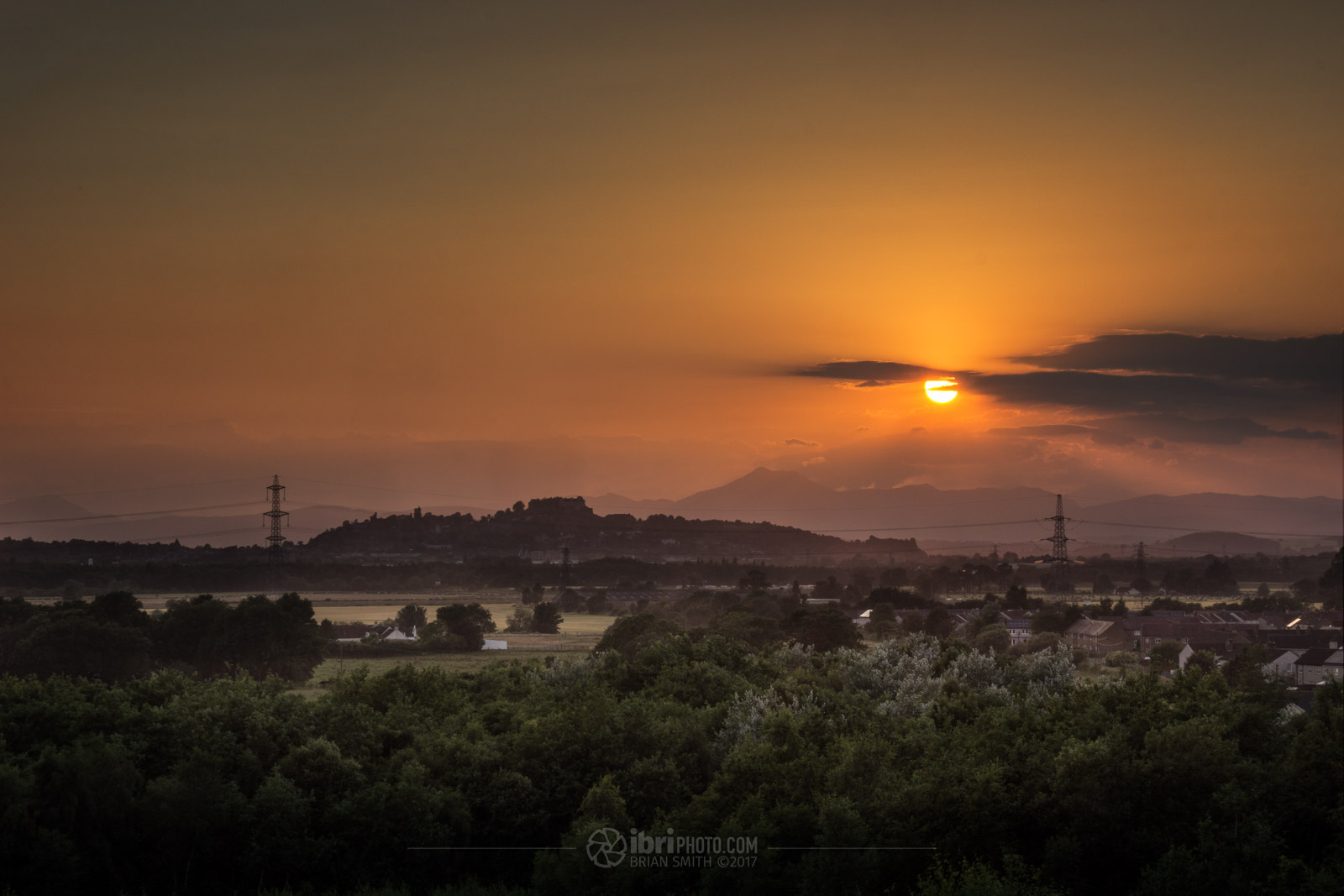 Grand spot to watch the sun set over Stirling.
