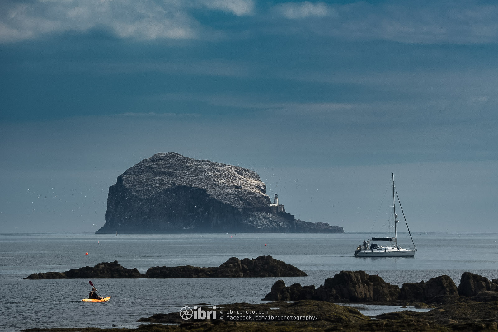The Bass Rock in the Firth of Forth off North Berwick.
