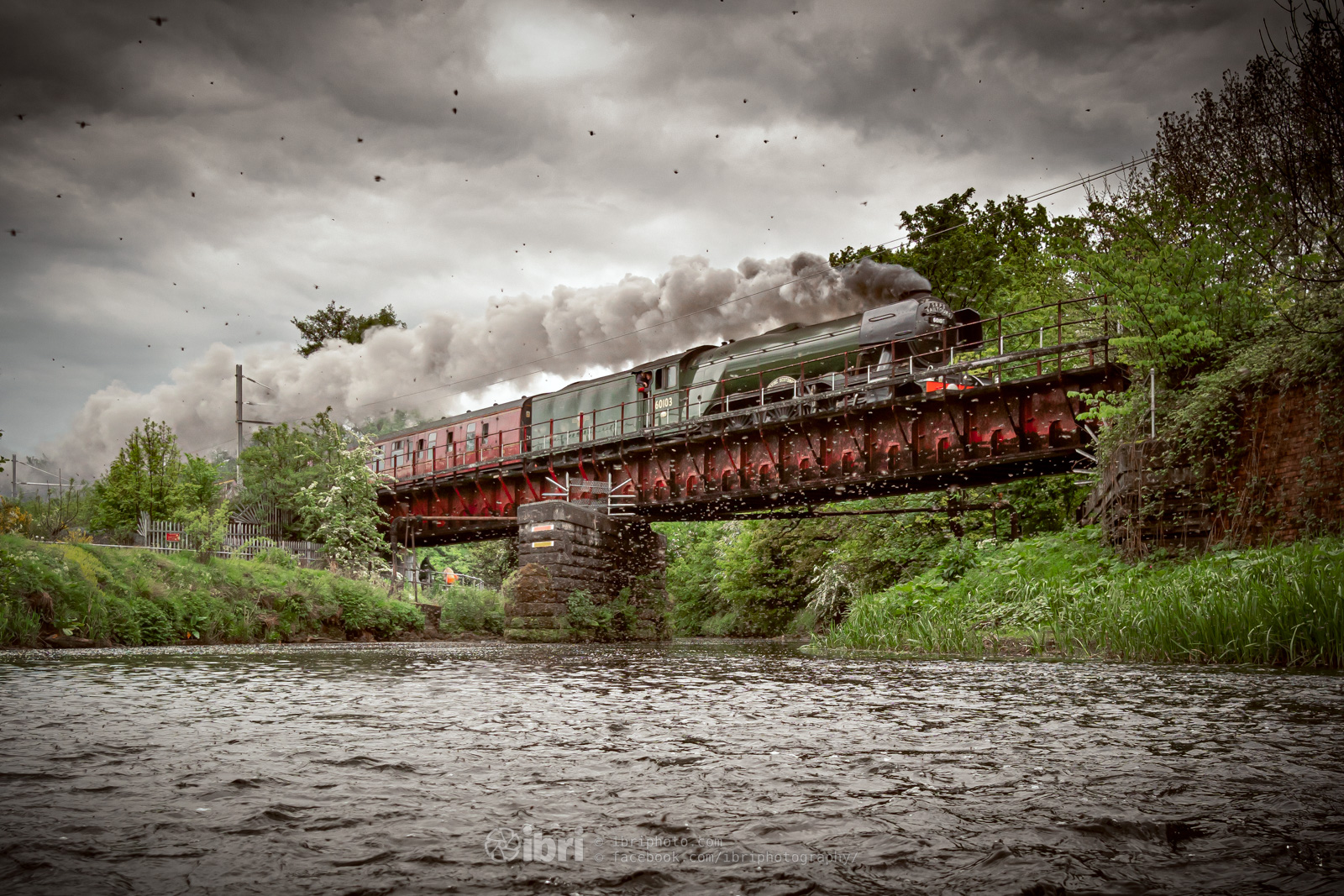 Final edit - can just about make out the train in amongst the clouds of Scottish midges!