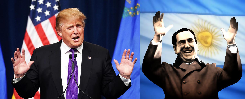 Donald Trump - US Republican nominee, and Juan Perón -former President of Argentina.