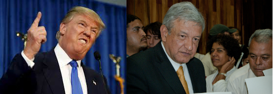 Donald Trump, American 2016 presidential candidate, and Andrés Manuel López Obrador, Mexican 2018 presidential candidate.