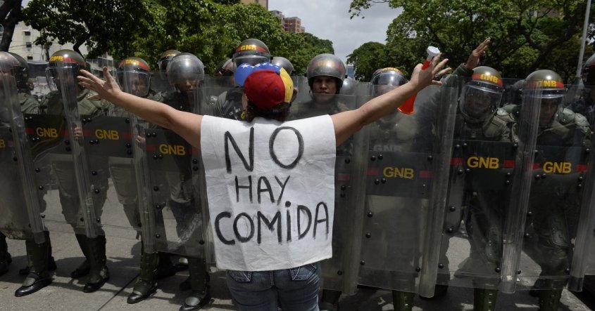 """Venezuelan protestor: """"There is no food"""""""