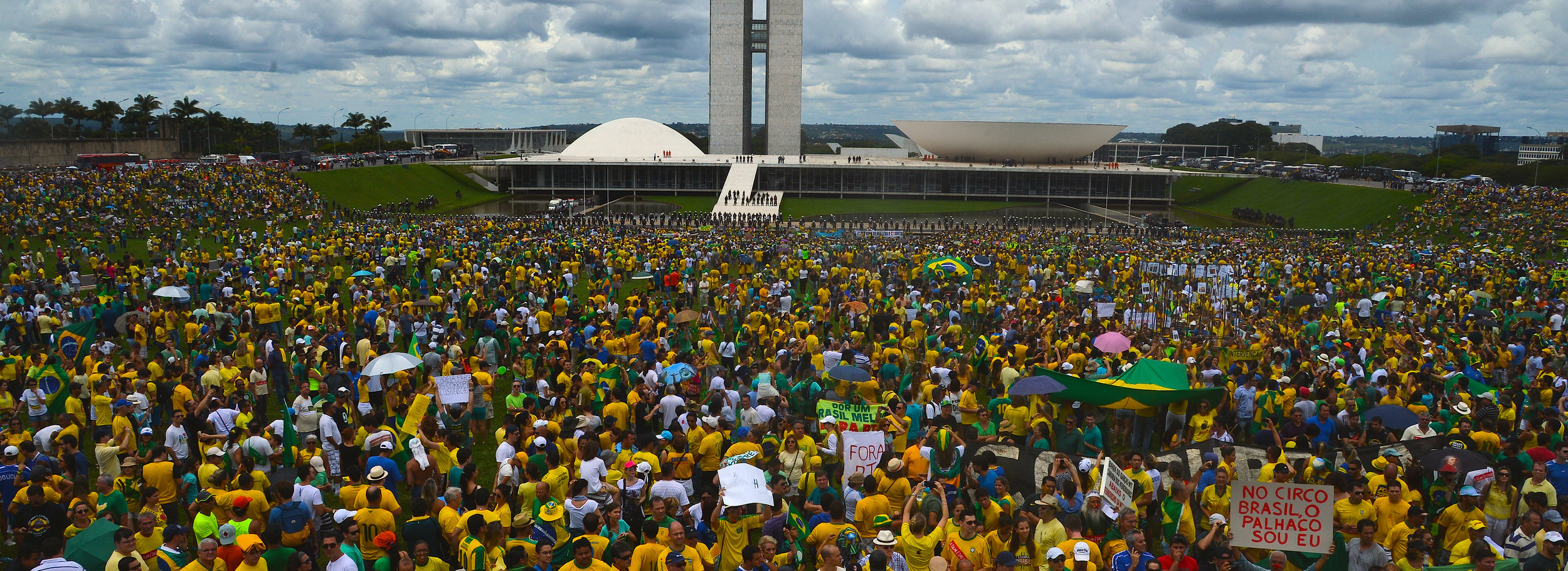 Protests against government corruption in Brazil