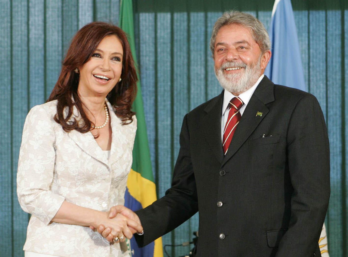 Former President Cristina Fernández de Kirchner of Argentina and former President Lula of Brazil