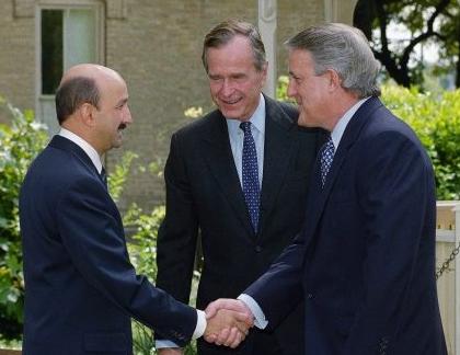Heads of State when NAFTA was Negotiated: Carlos Salinas (Mexico), George W. Bush (U.S.), Brian Mulroney (Canada).